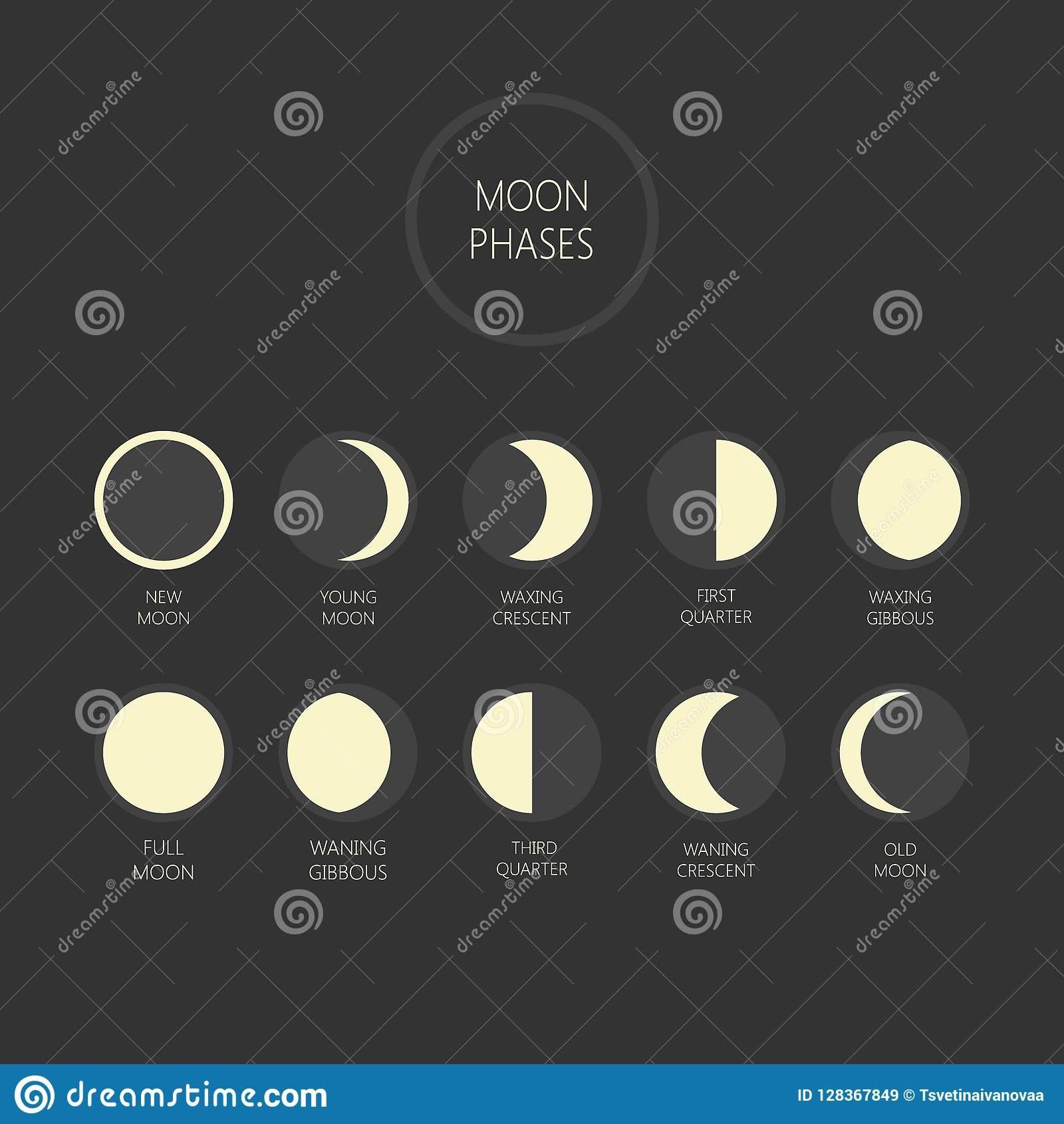 Lua Calendrio lunar e Fases da lua t