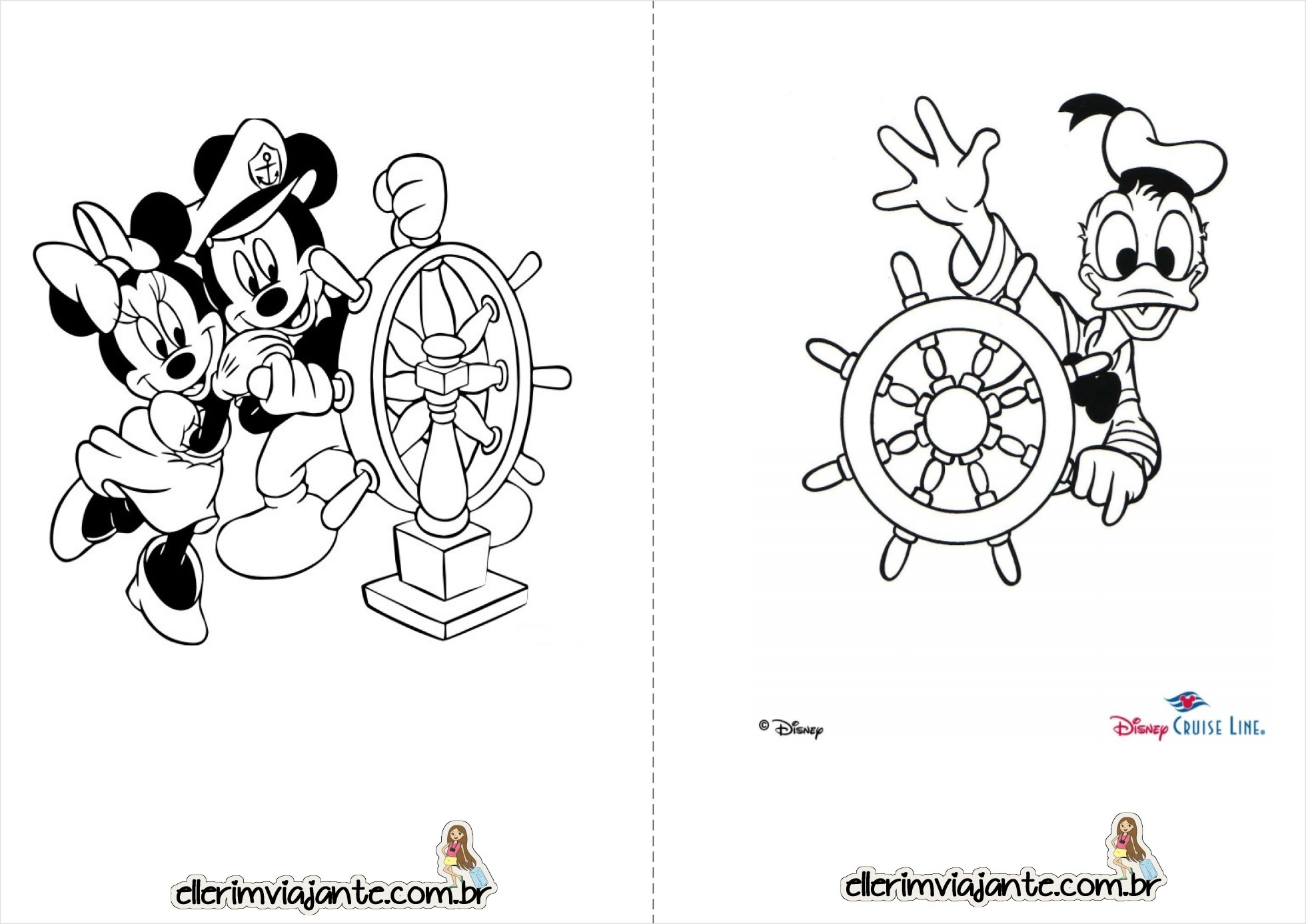 Calendario 2016 ms de abril Mickey e Minnie t