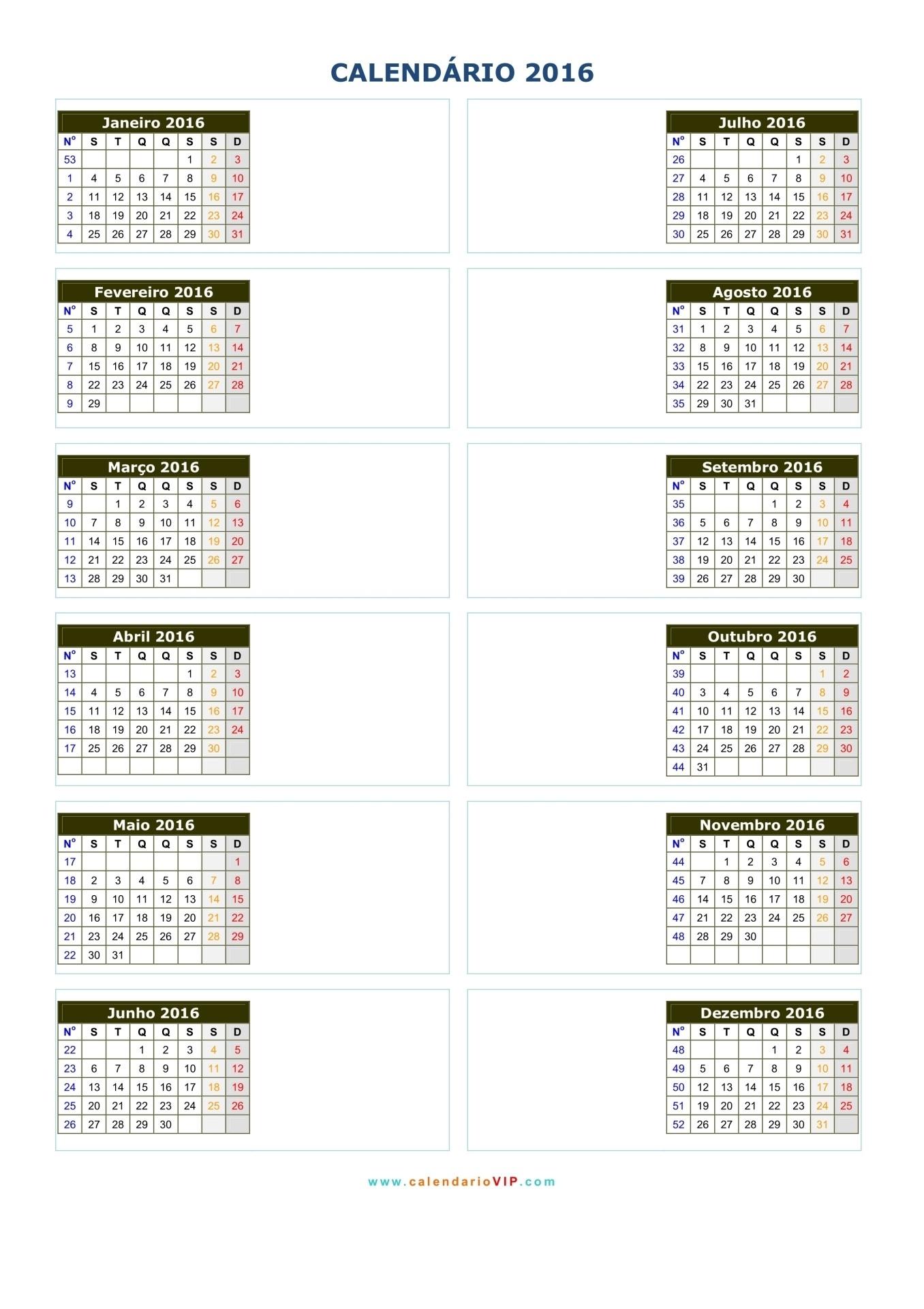 Calendarios 2016 05