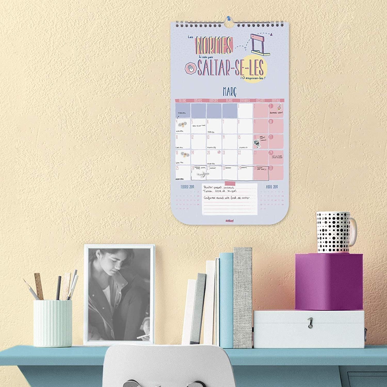 Finocam Calendario sobremesa 2019 Amazon icina y papelera