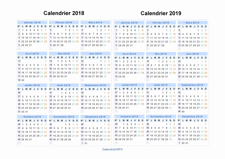 Calendario 2019 Con Festivos Para Imprimir Más Recientes Calendrier Lunes 2018 Calendrier 2018 2019 A Imprimer Gratuit En Pdf Of Calendario 2019 Con Festivos Para Imprimir Más Recientemente Liberado Determinar Calendario 2019 In Excel