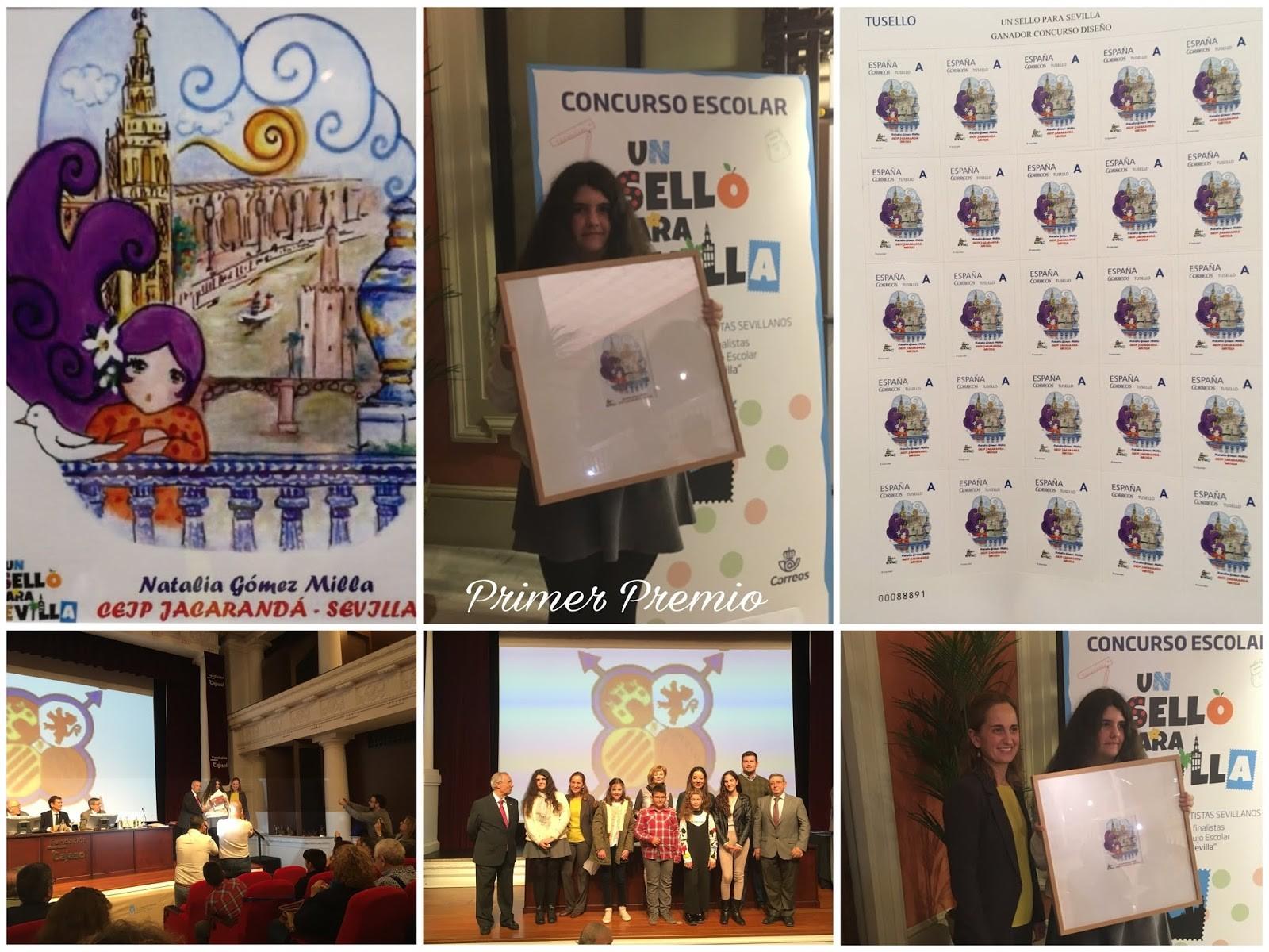 Nuestra antigua alumna Natalia G³mez recibe el primer premio UN SELLO PARA SEVILLA