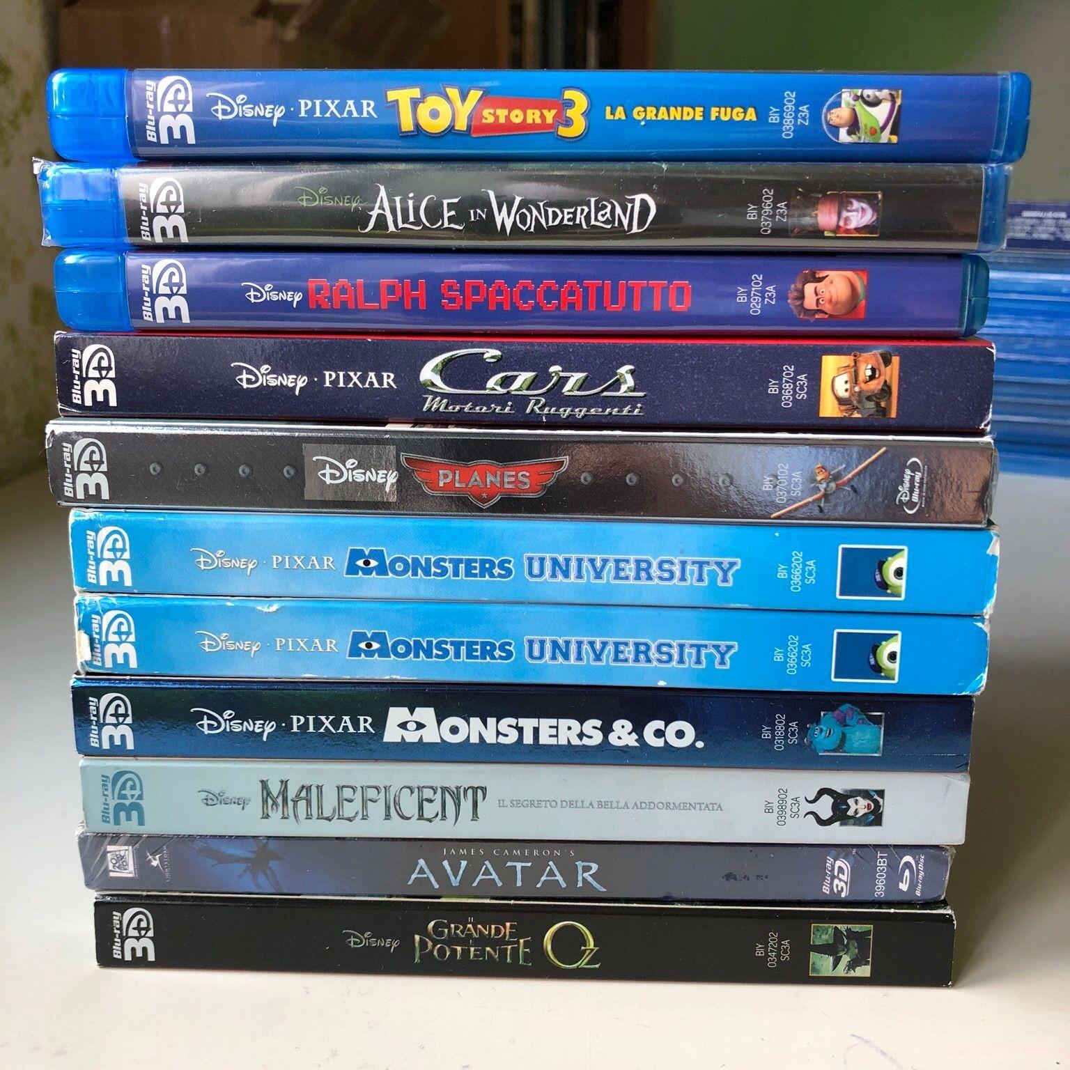 Disney Blu ray e 3D
