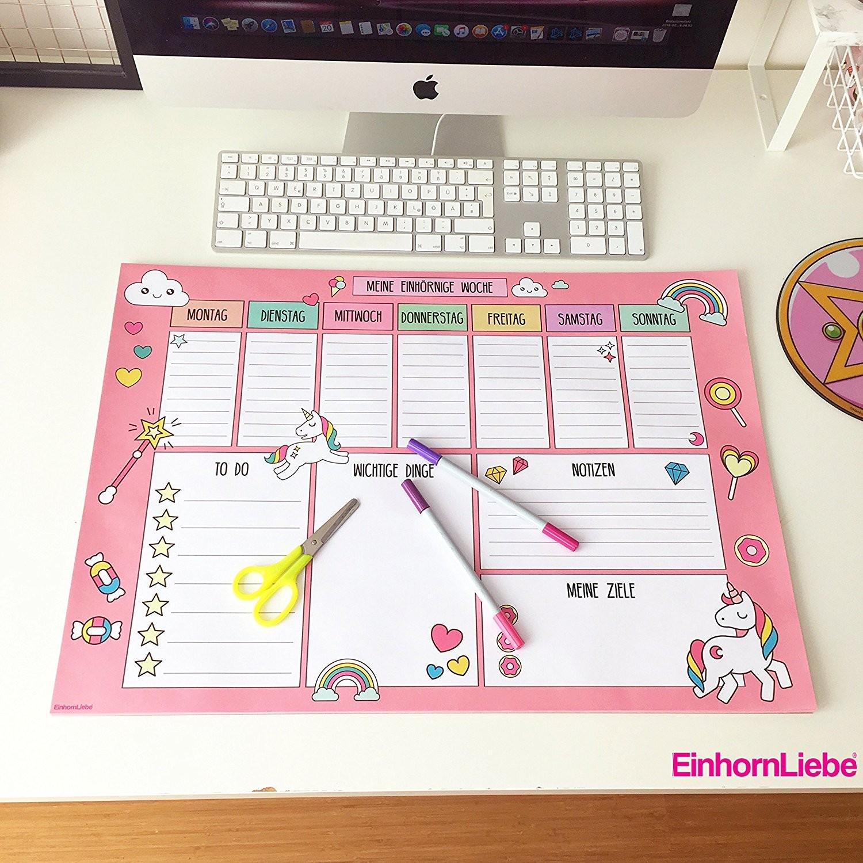 Calendario 2019 Da Stampare A4 Más Reciente Unicorno Amore Unicorno sottomano Xxl Unicorn Settimanale Din A2