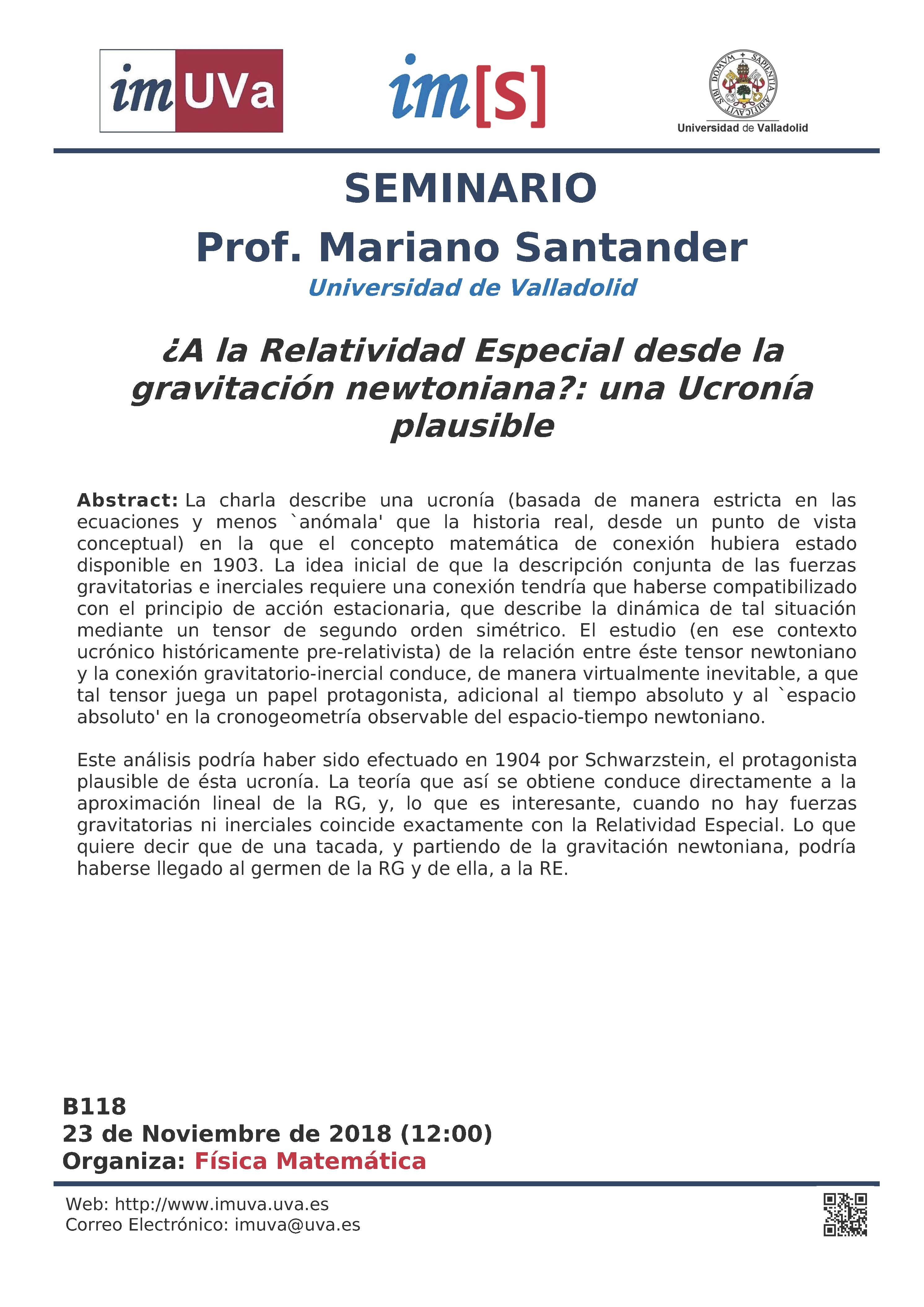 Seminario a cargo del PROF MARIANO SANTANDER