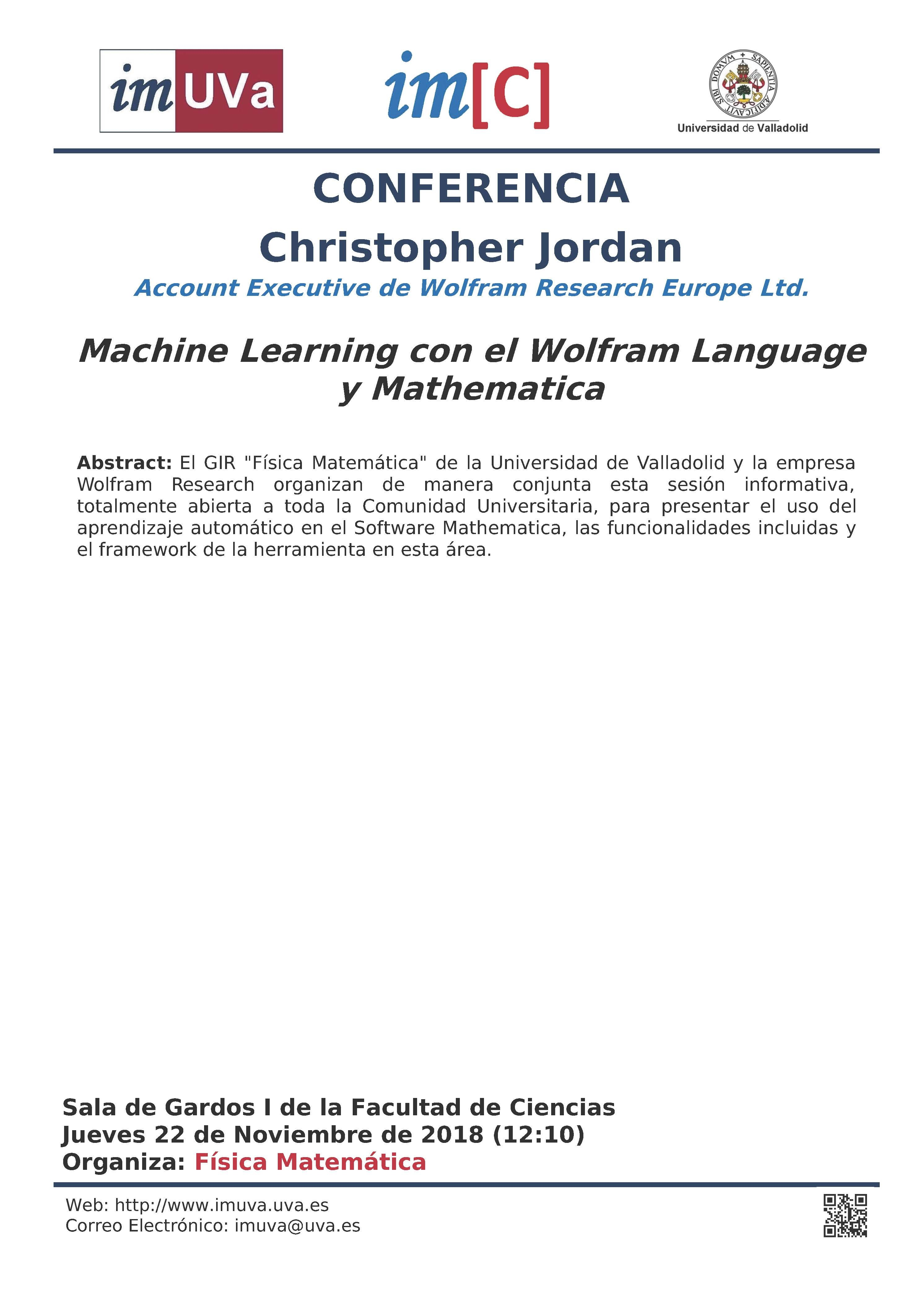 Conferencia de CHRISTOPHER JORDAN