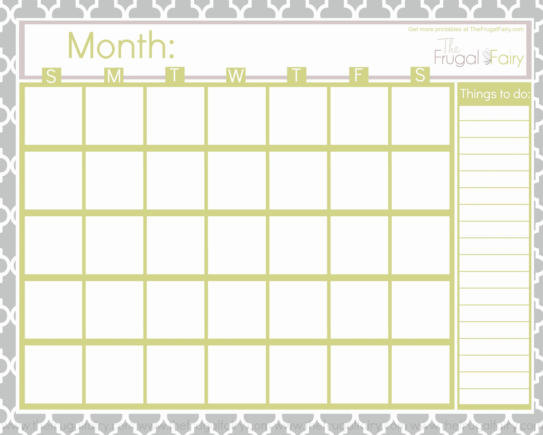 Blank Calendar Free Blank Printable Calendar