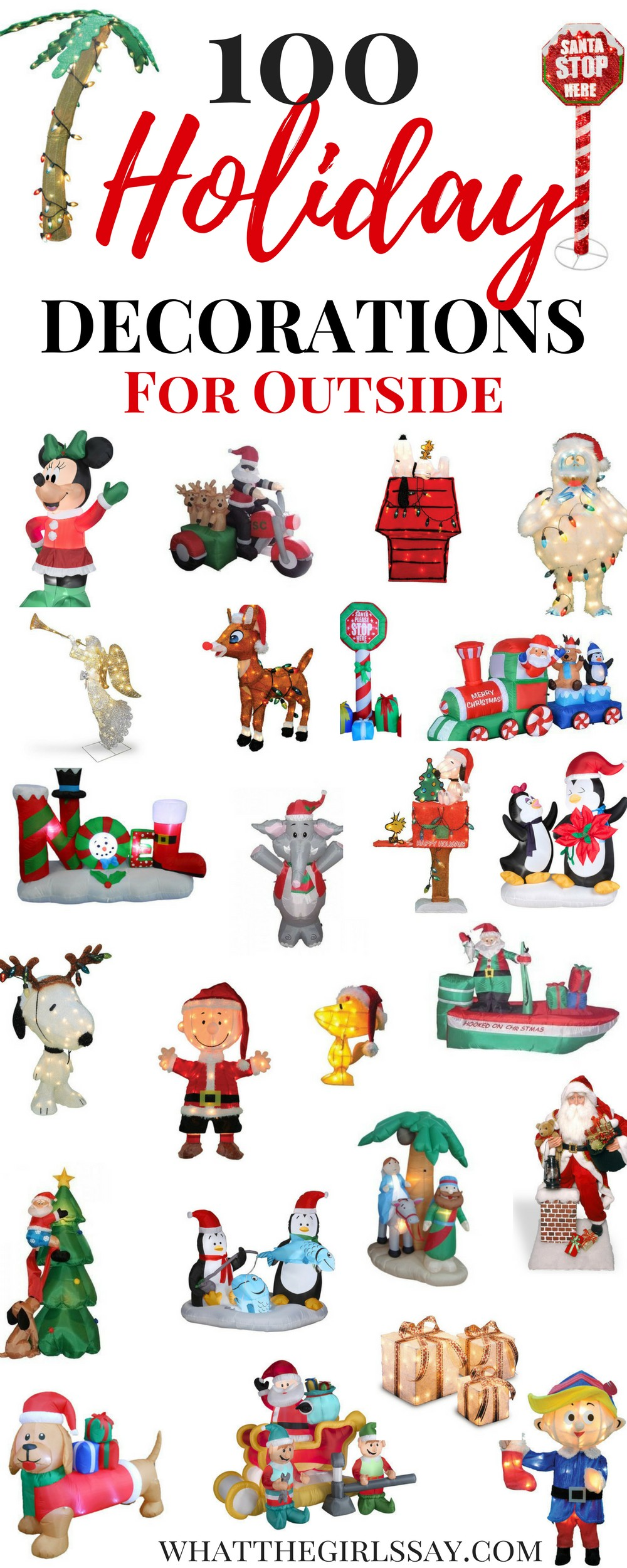 100 Outdoor Christmas Decorations Blog your heart out