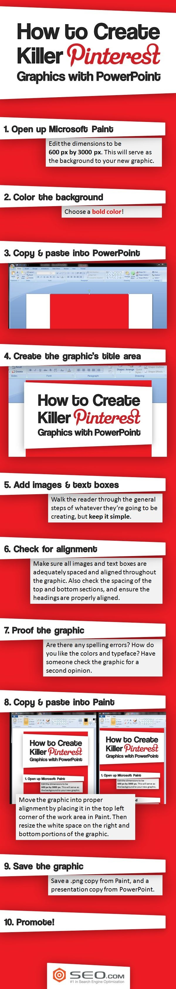 How to Create Killer Pinterest Graphics with PowerPoint via Mary Powers Powers Powers Powers