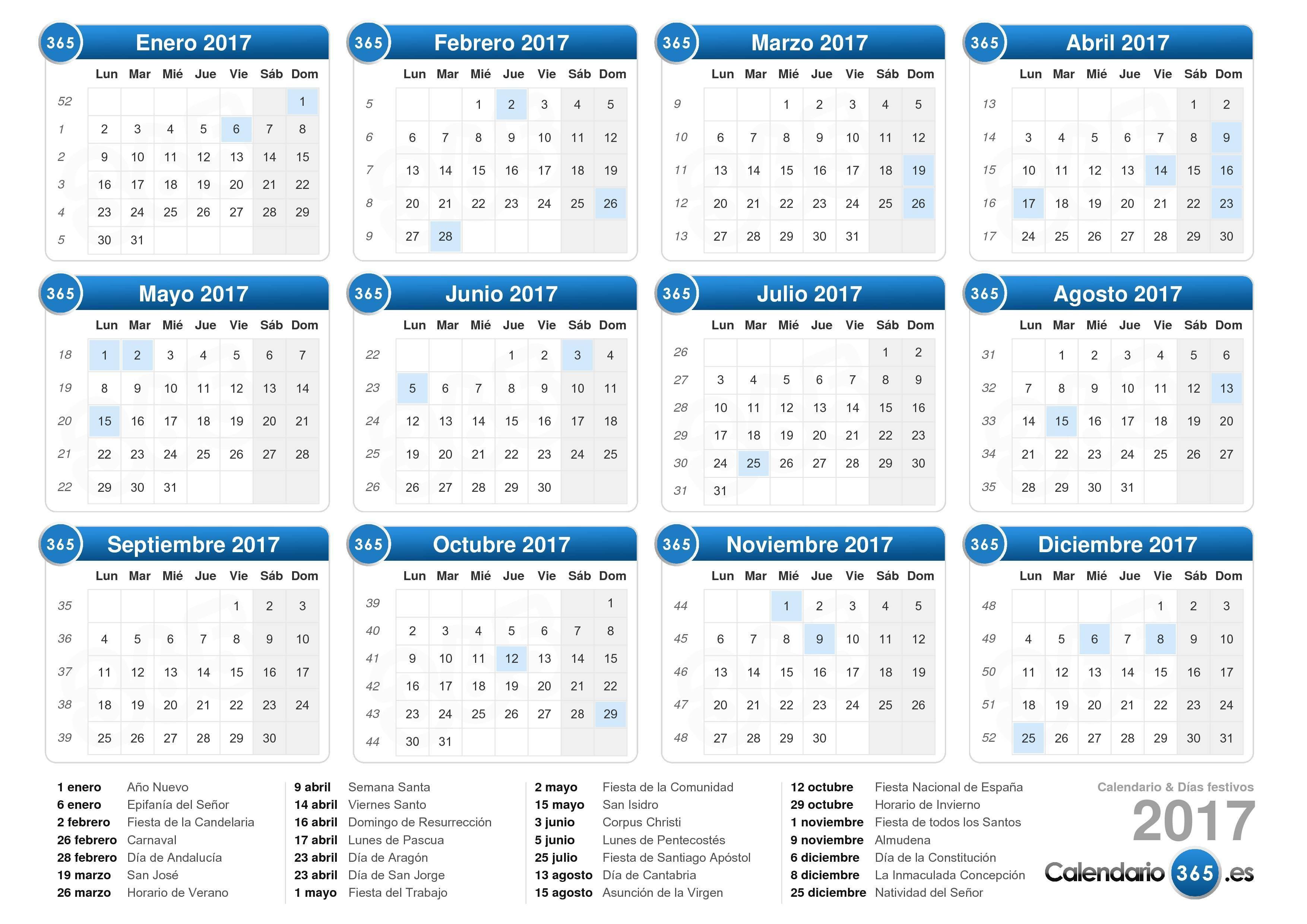 Calendario 2019 Festivos Chile Más Reciente Calendario 2017