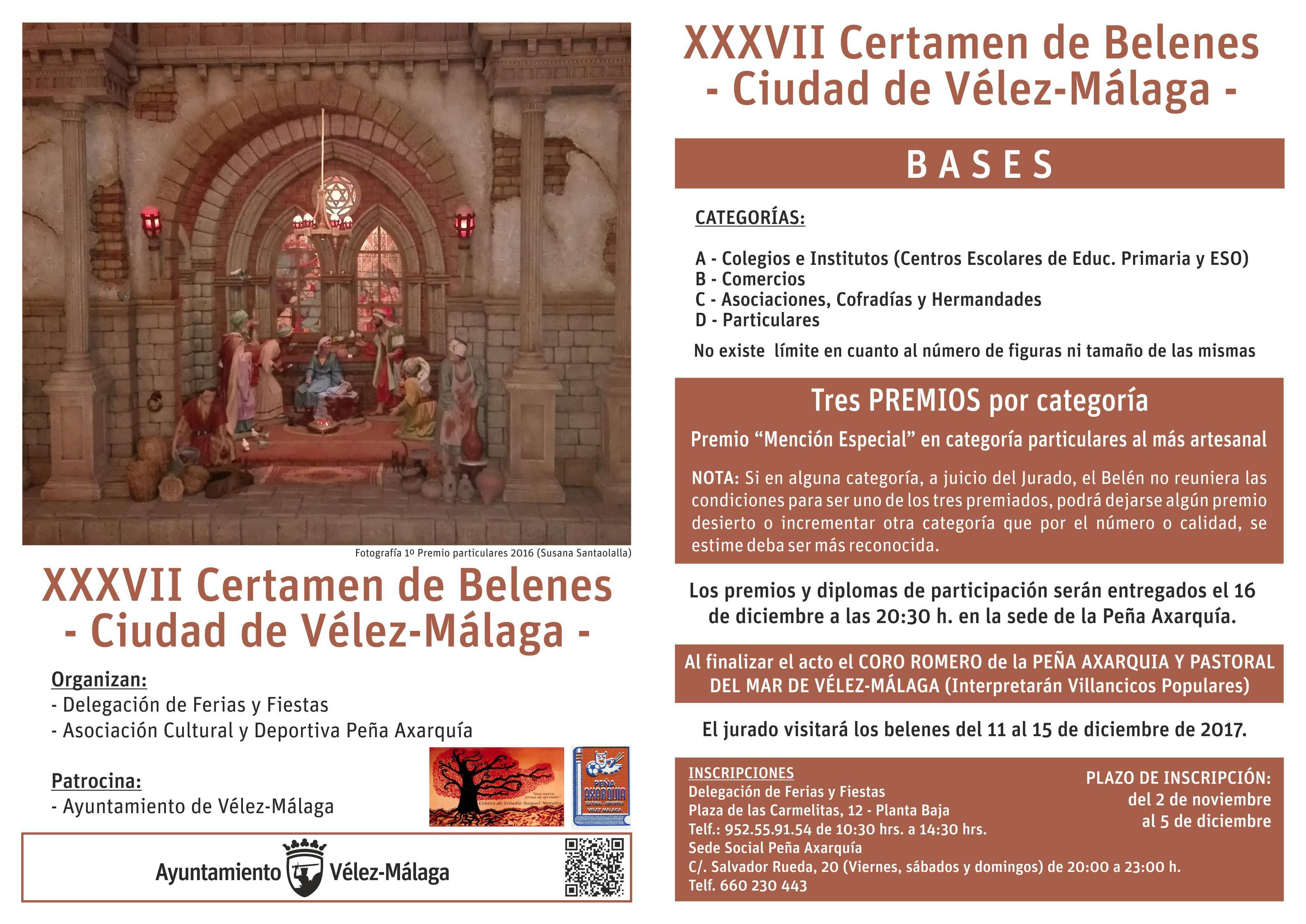 XXXVII edici³n de su tradicional Certamen de Belenes