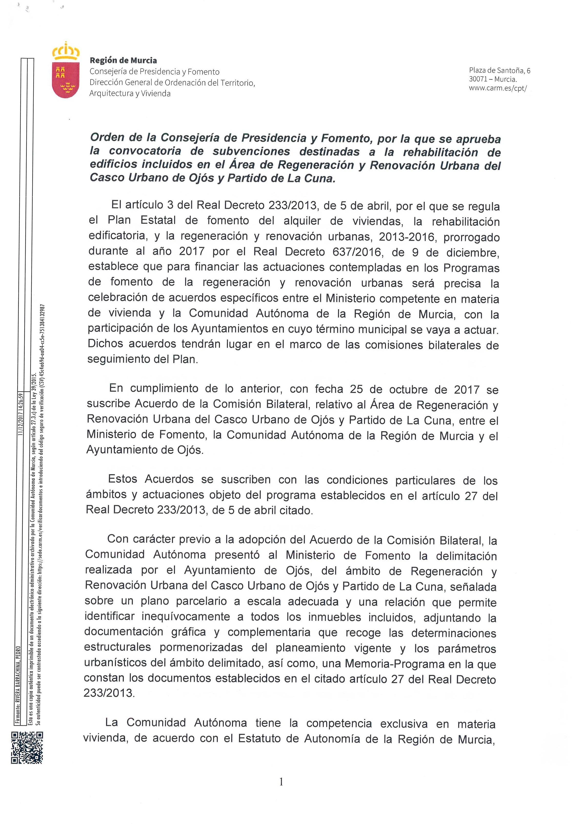 """Leer más ORDEN CONVOCATORIA SUBVENCIONES REHABILITACI""""N VIVIENDAS ARRU OJ""""S"""