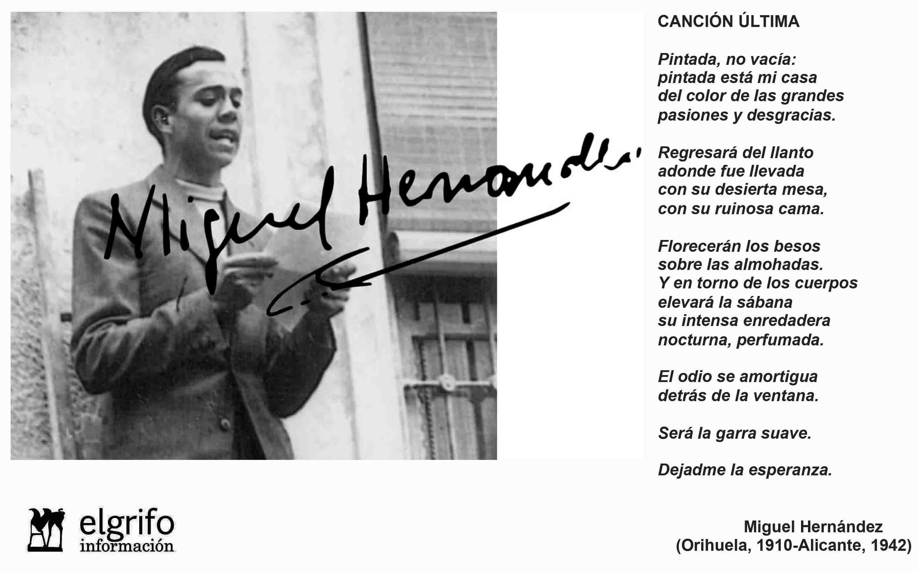 SE HAN CUMPLIDO 75 A'OS DE LA MUERTE DE MIGUEL HERNNDEZ EL POETA