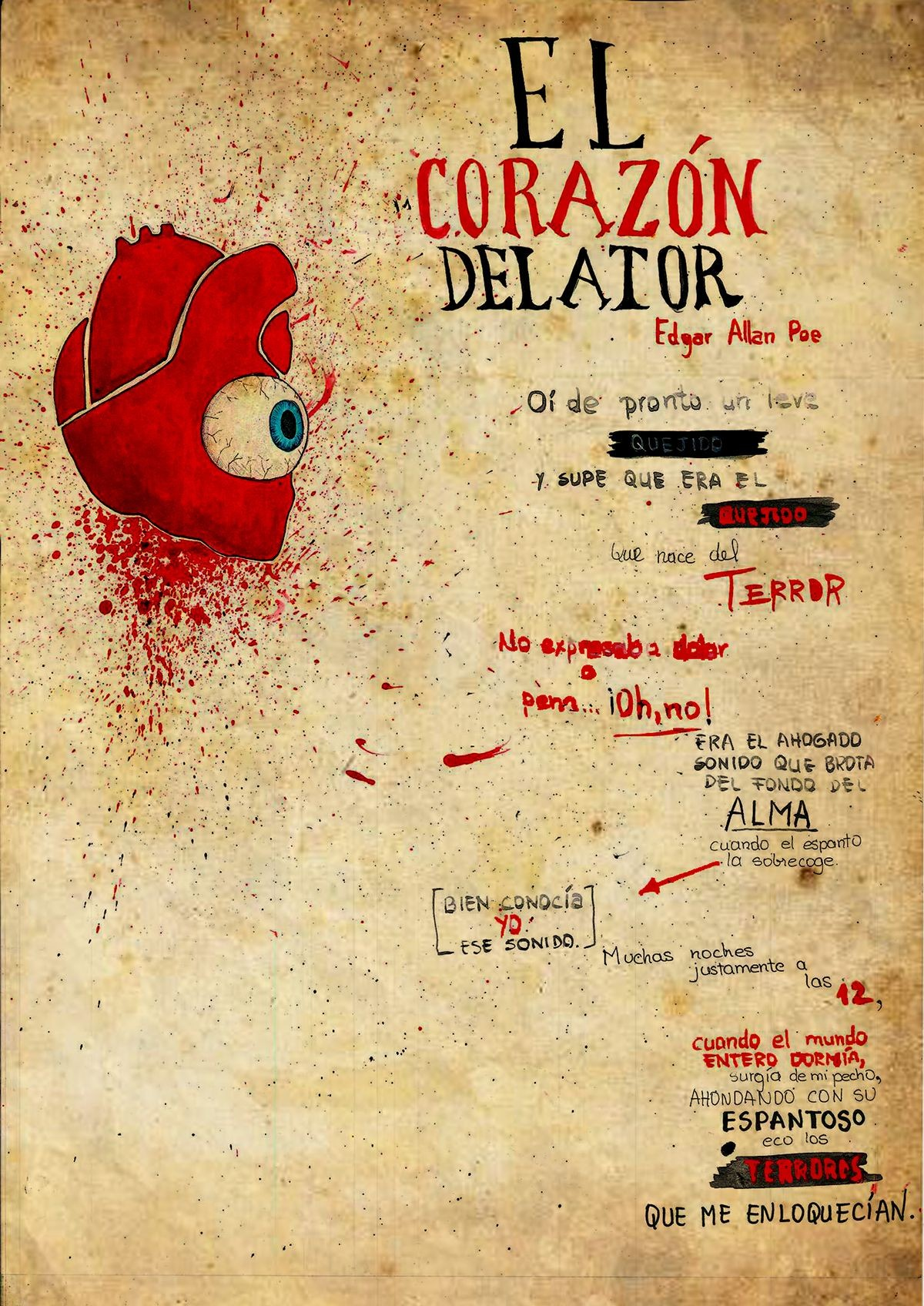 El coraz³n delator on Behance
