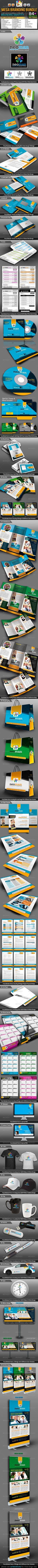 NeoMan Corporate Business ID Mega Branding Bundle Folleto Corporativo Identidad Corporativa Dise±o De Folletos