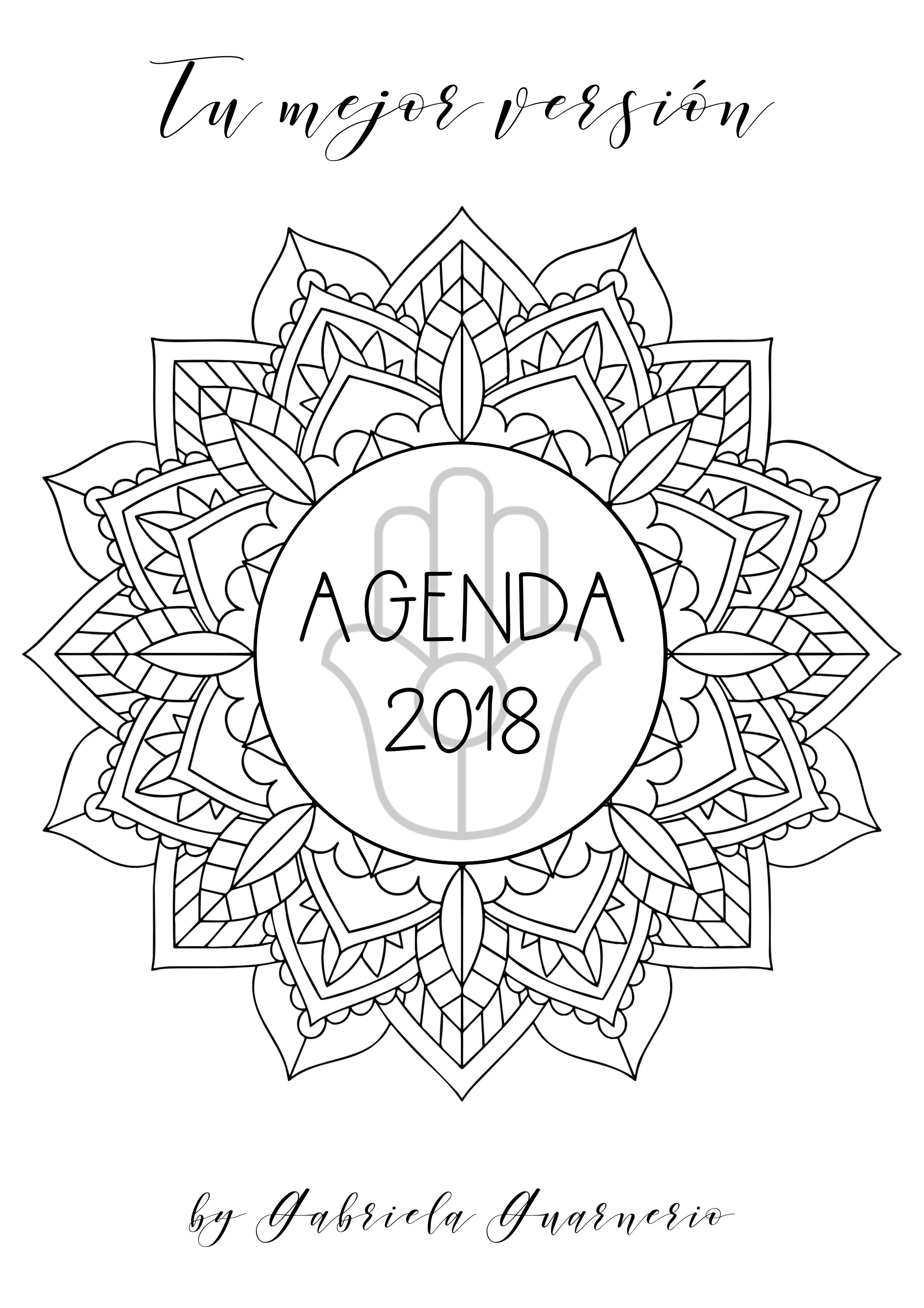 ULTIMOS DIAS Agenda 2018 gratis con mandalas para colorear y