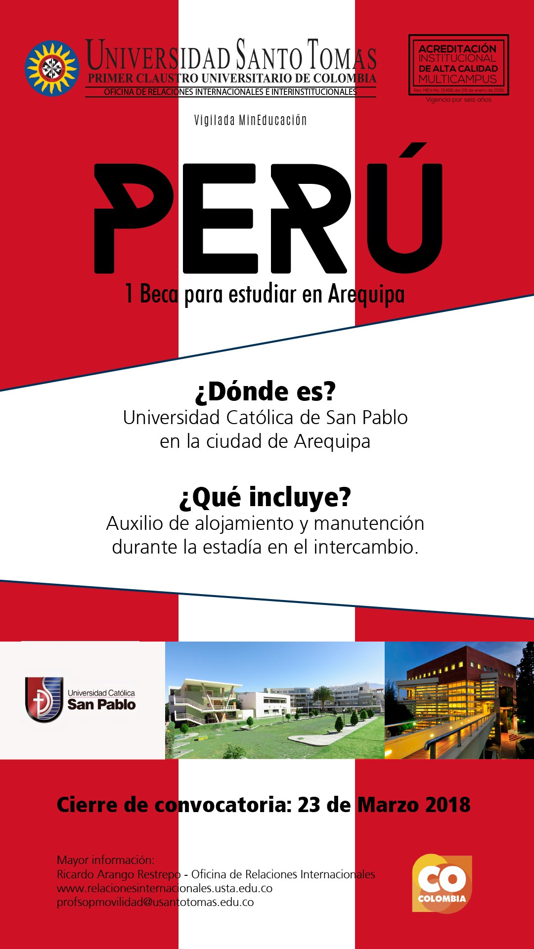 1 Verifica la oferta académica de la Universidad Cat³lica de San