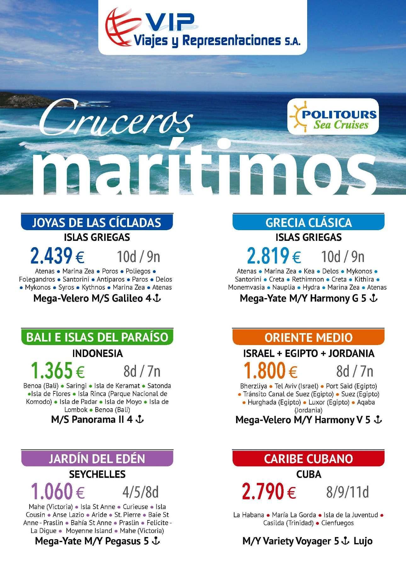 ANUNCIO VIP VIAJES CRUCEROS VARIETY