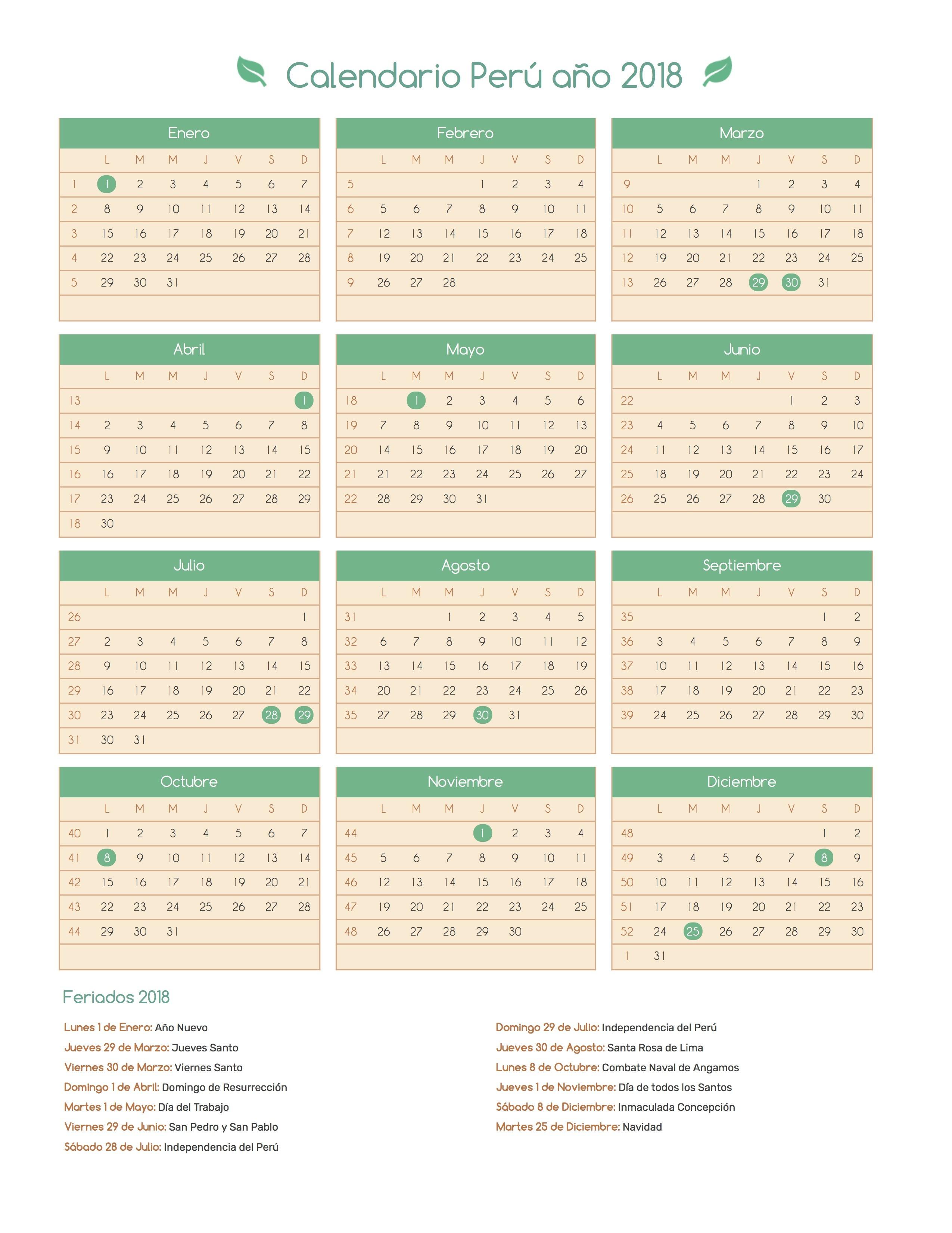 fabulous with diseos de calendarios