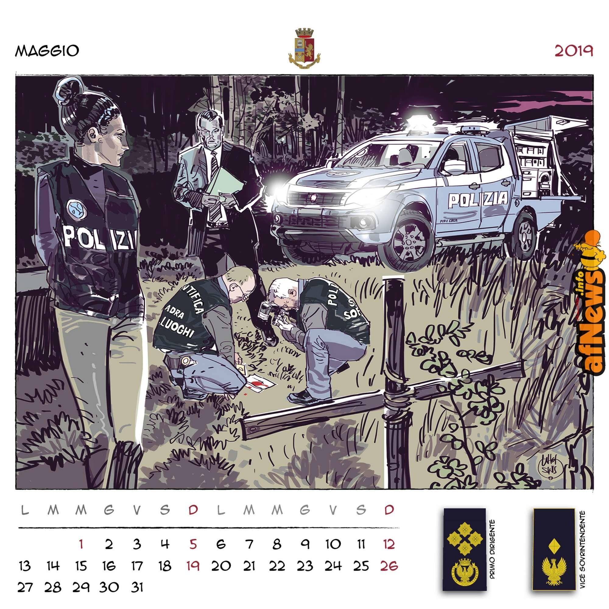 Calendario Agosto 2019 Da Stampare Actual Unicef E Polizia Di Stato 12 Fumettisti Per Il Calendario 2019