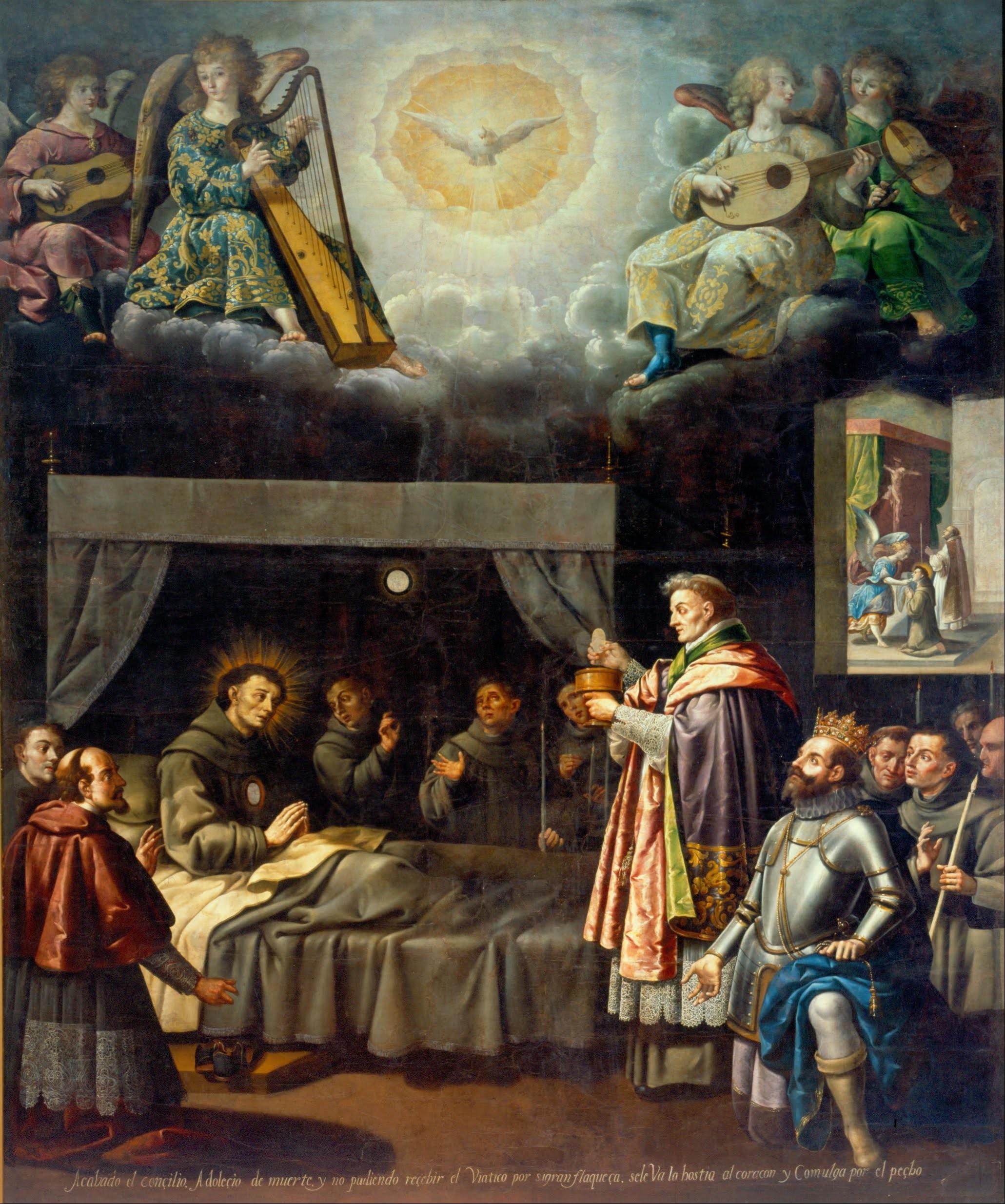 José Juárez Ultima unione di S Bonaventura XVII sec Museo Nacional de Arte Mexico City
