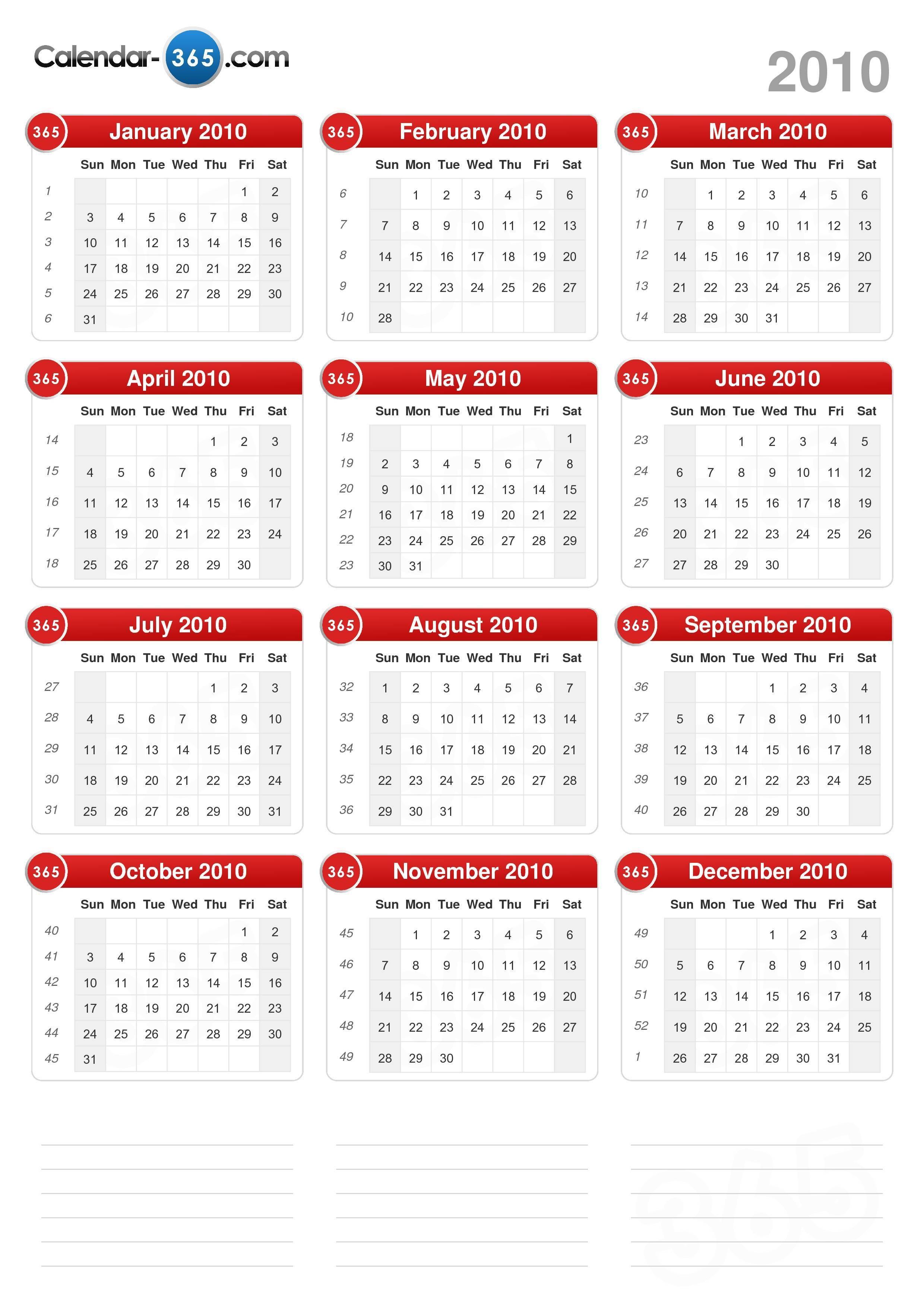 2010 Calendar portrait format v2