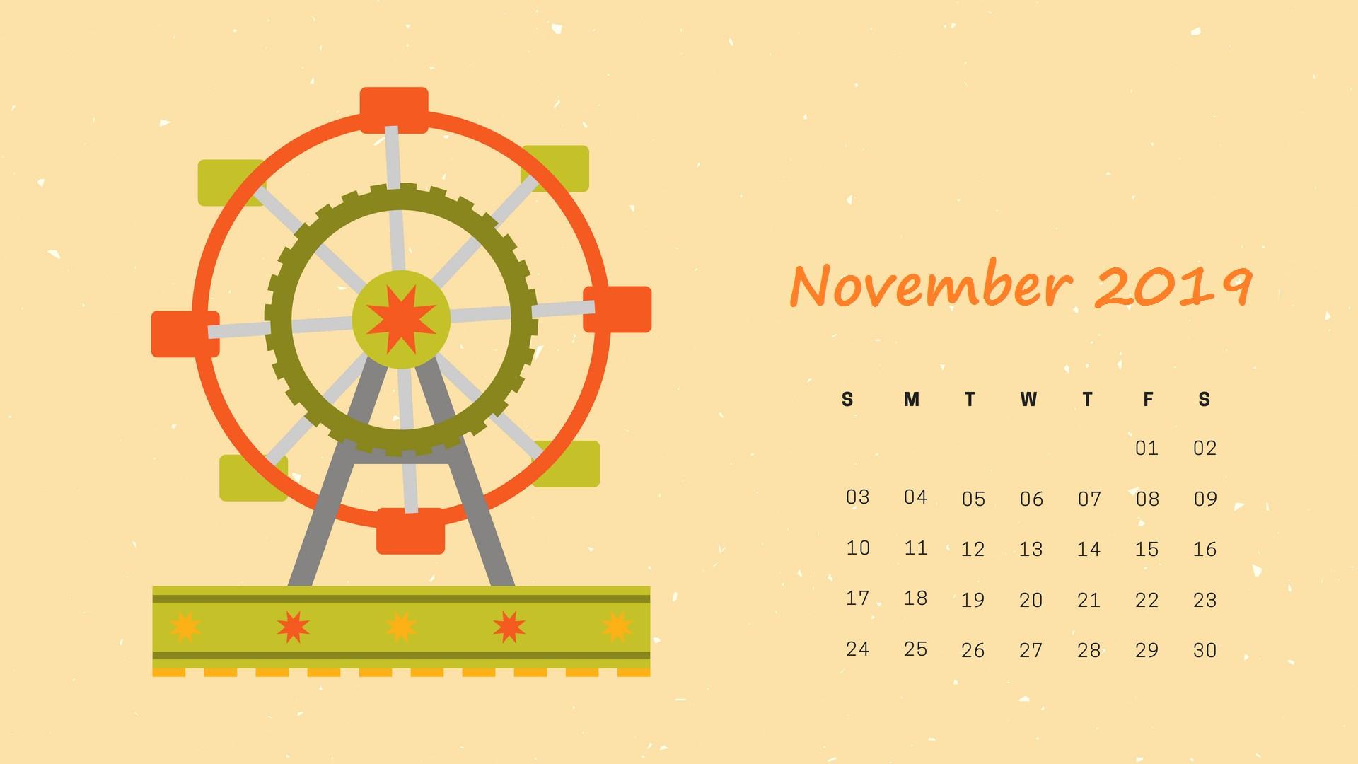 2019 November HD Calendar Wallpaper 2019calendar PrintableCalendar calendar2019 calendar CalendarTemplate