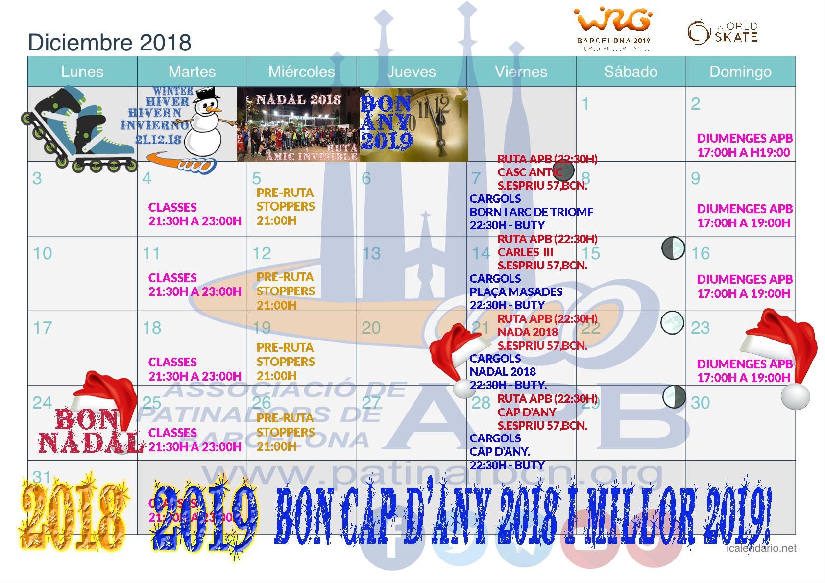 Calendario Champions 2019 Fc Barcelona Recientes Apb asociaci³n De Patinadores De Barcelona
