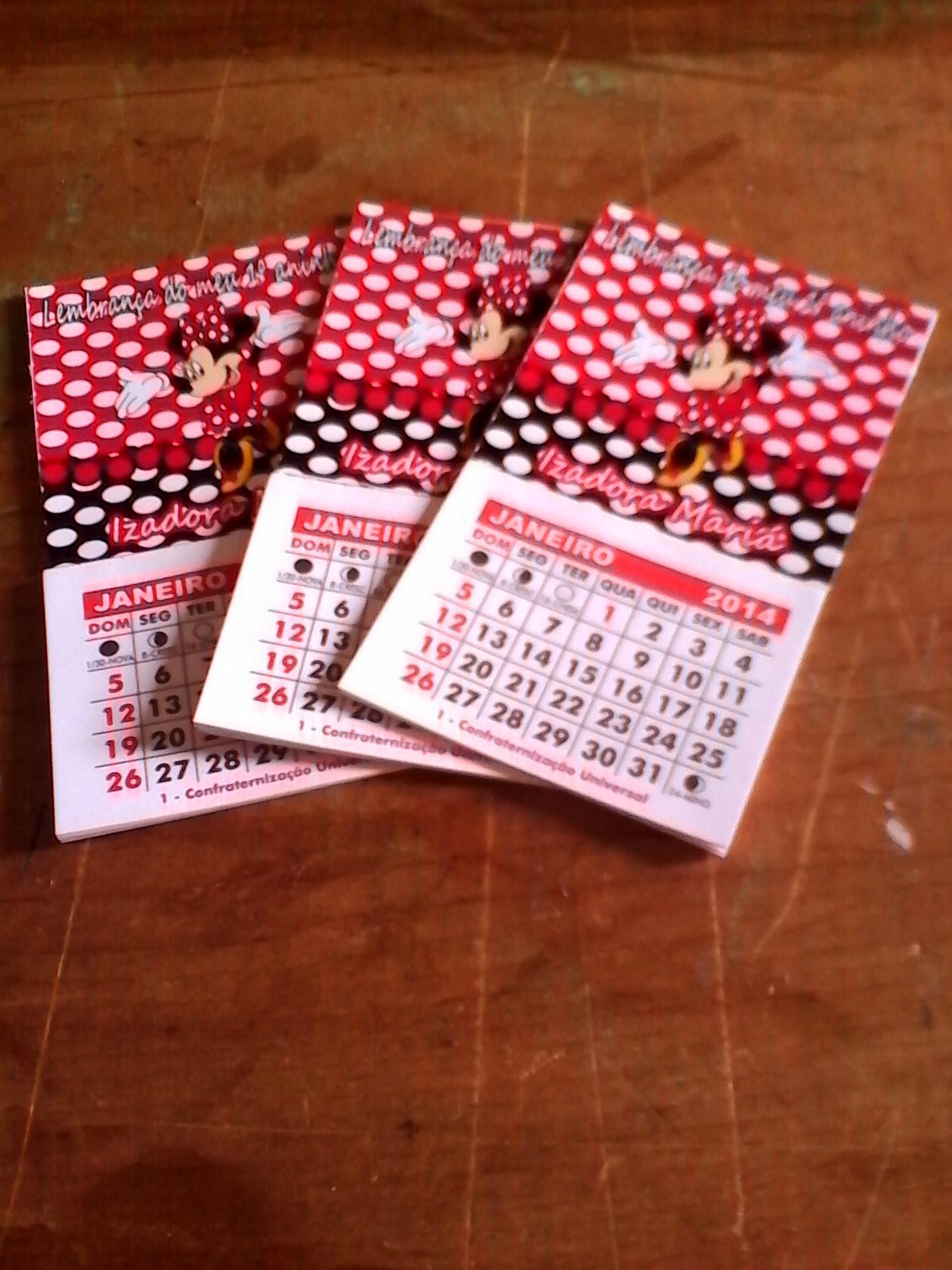 ima calendario minnie vermelha imas
