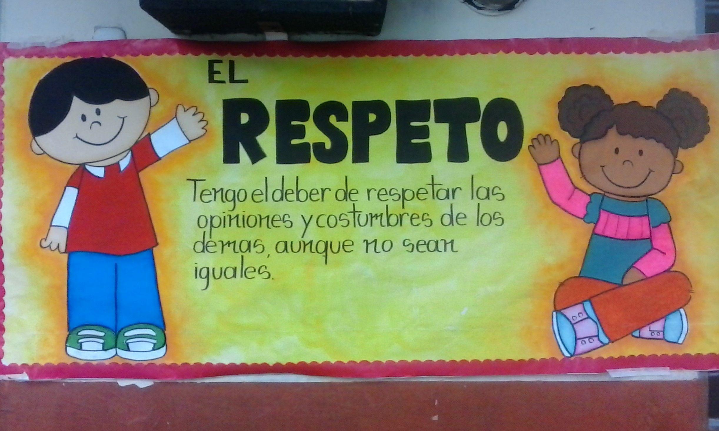 Resultado de imagen para cartelera sobre el respeto Respect
