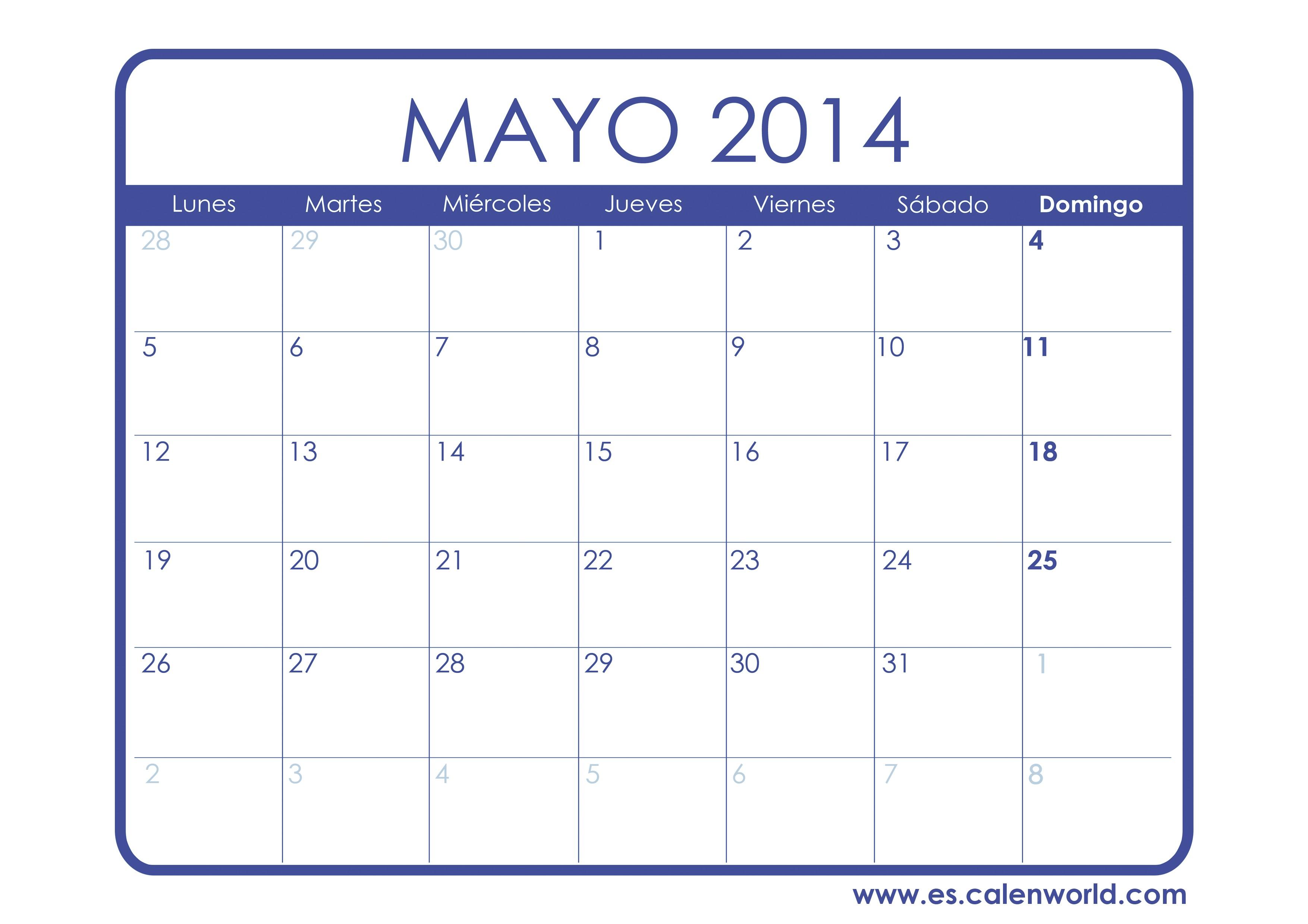interesting calendario mayo para imprimir