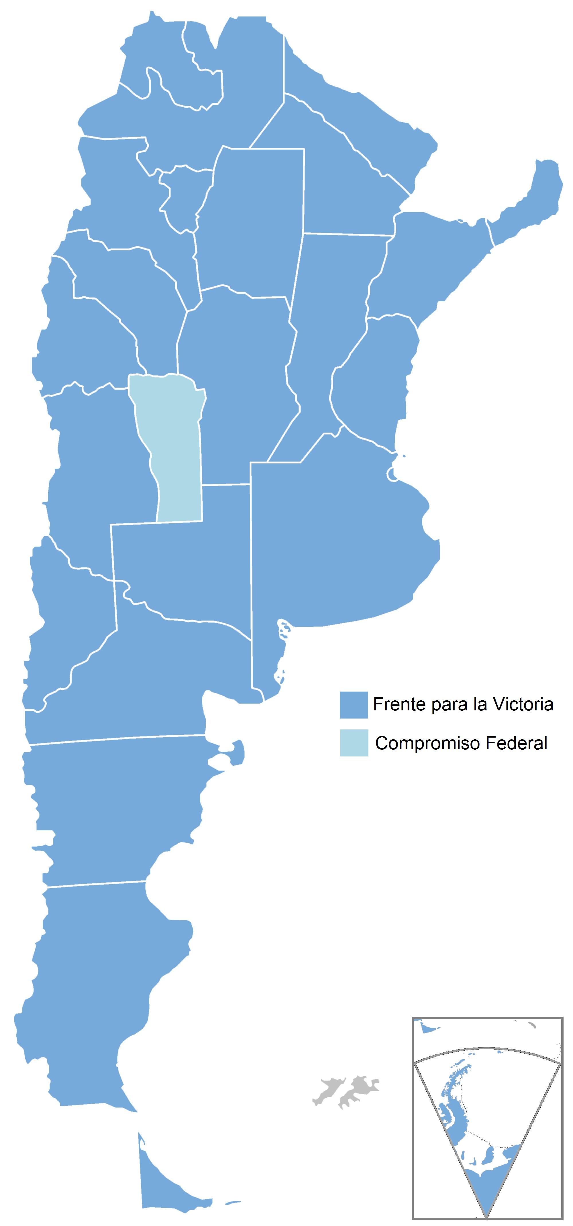 Mapa de las elecciones presidenciales de 2011