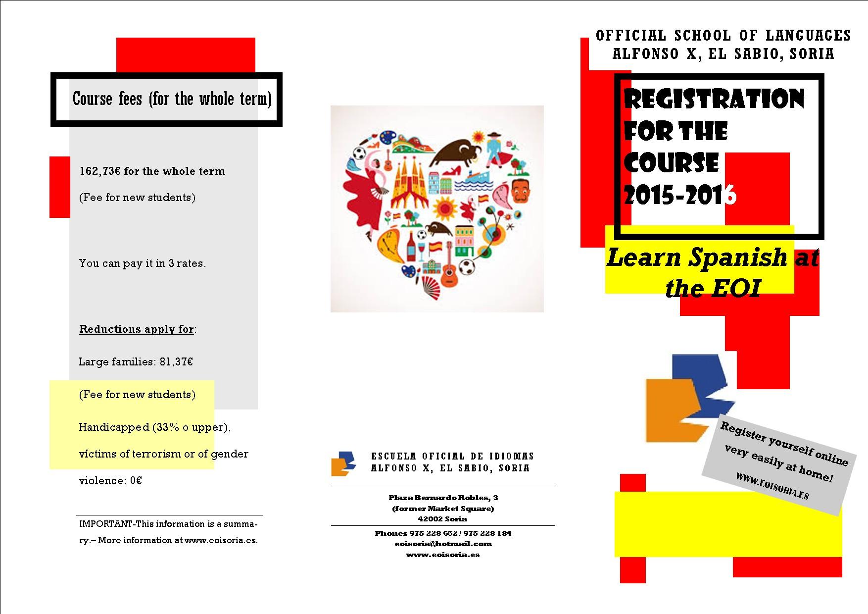 Calendario Escolar 2018 A 2019 andalucia Más Caliente Eoi Alfonso X El Sabio soria Y Secciones De Almazán Y El Burgo De Osma