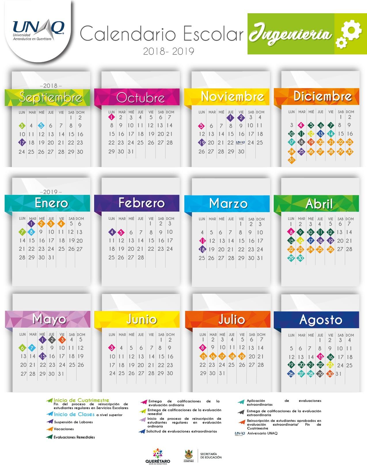 UNAQ Calendario escolar