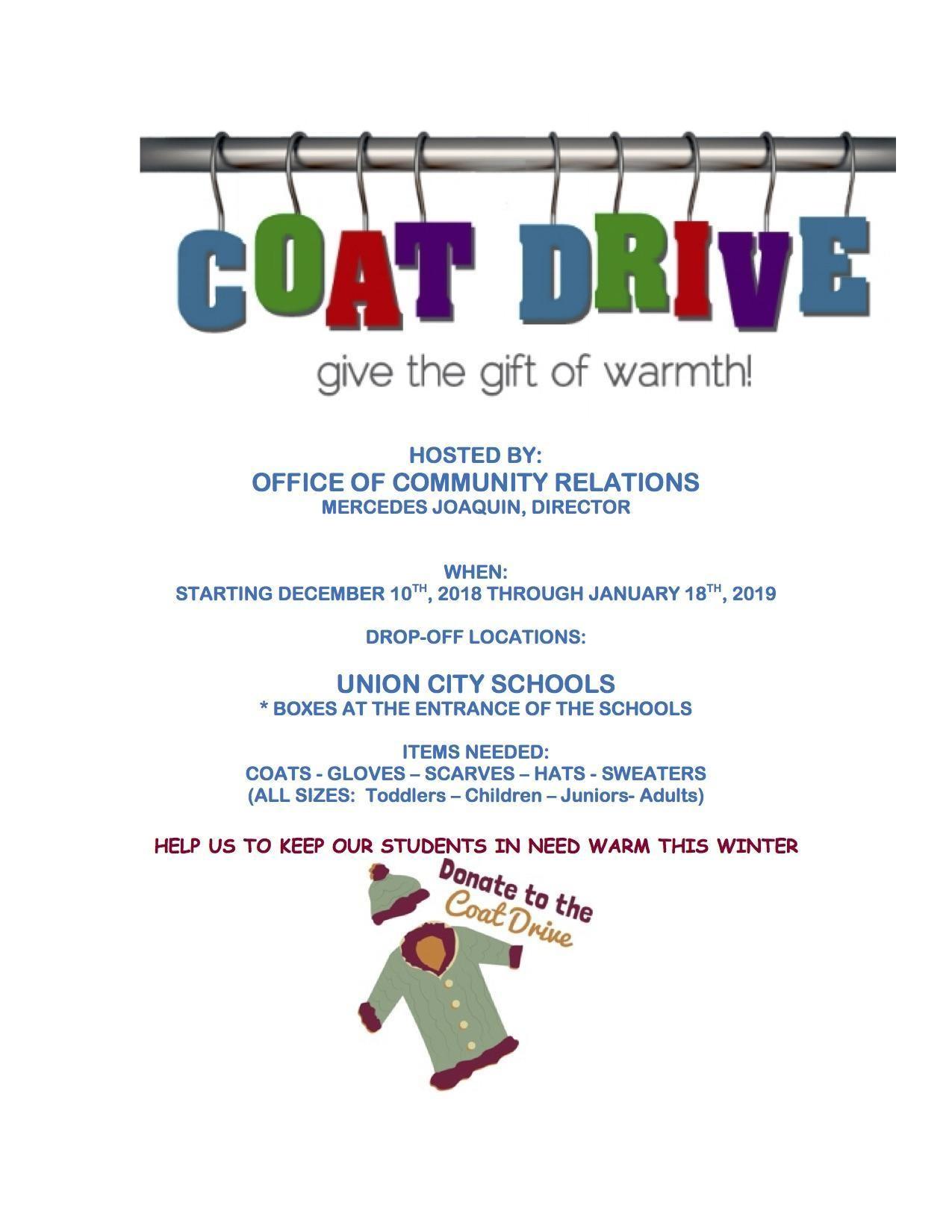 Winter Coat Drive Flyer