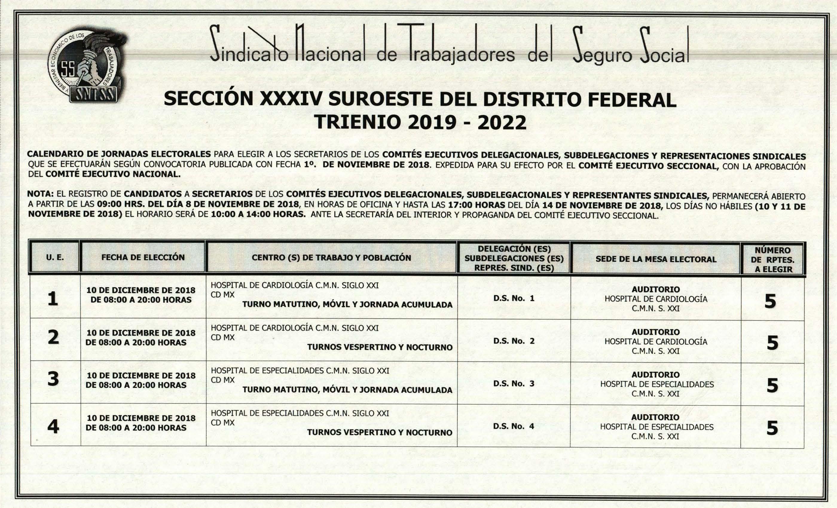 SNTSS Secci³n XXXIV Suroeste del D F