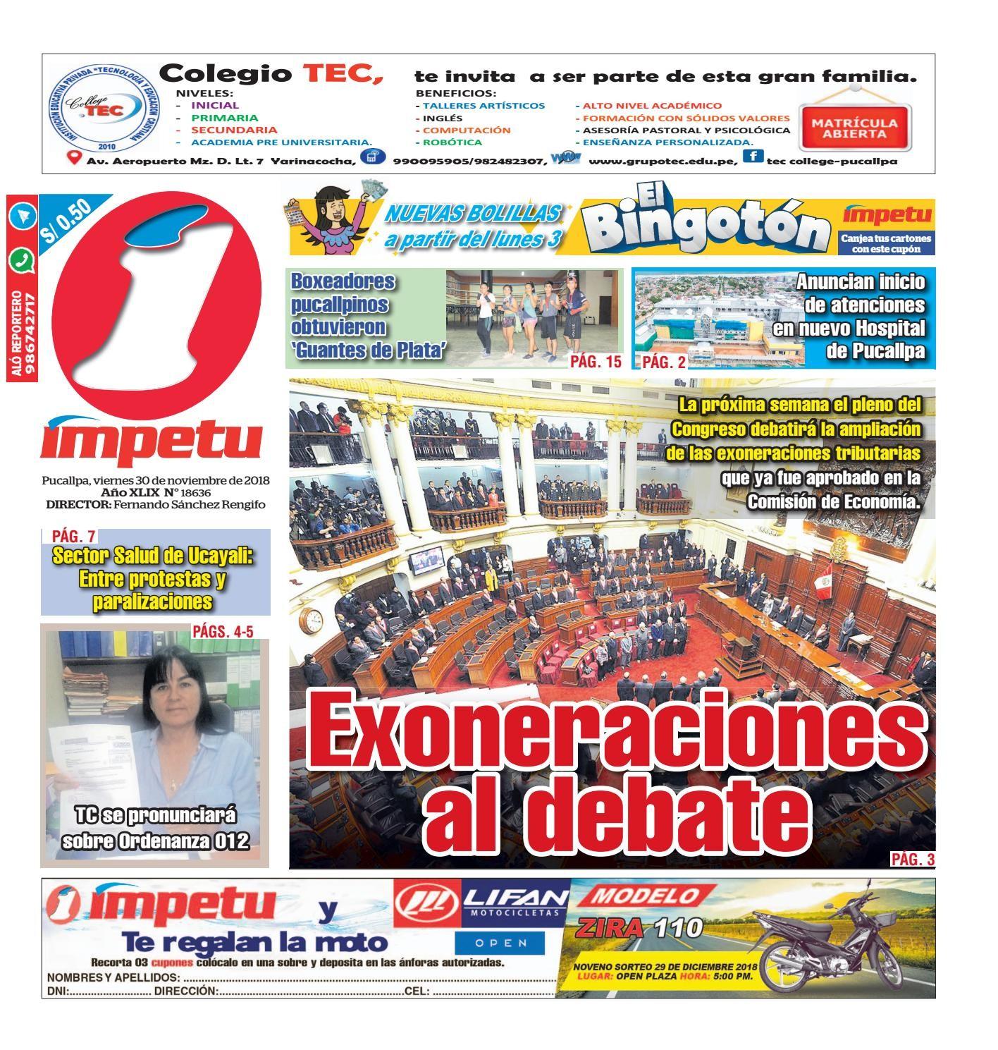 Impetu 30 de Noviembre del 2018 by Diario mpetu issuu