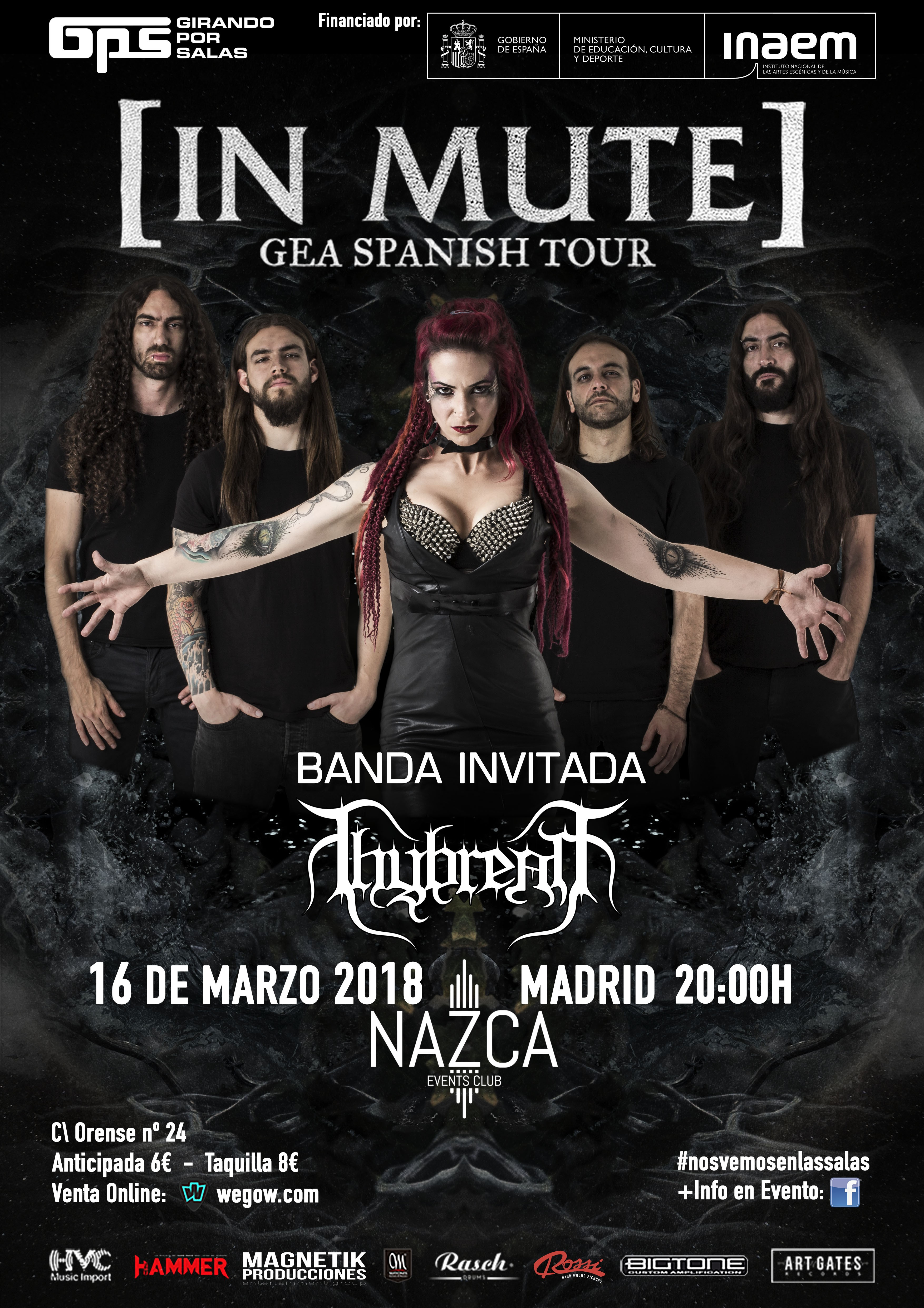 [IN MUTE] concert in Madrid tickets SALA NAZCA Friday 16 March 2018