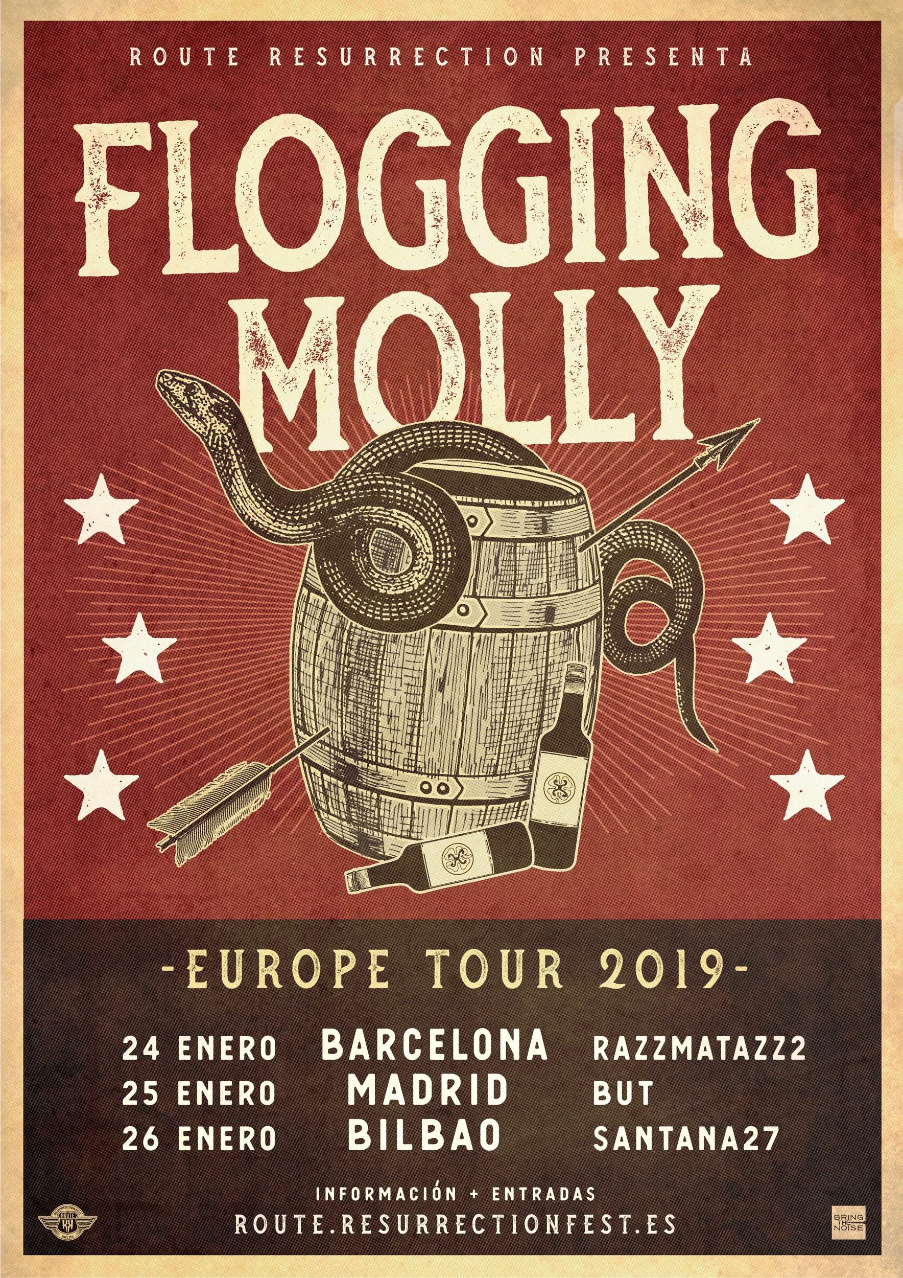 FLOGGING MOLLY Concierto en Sala Razzmatazz Barcelona 24 01 2019