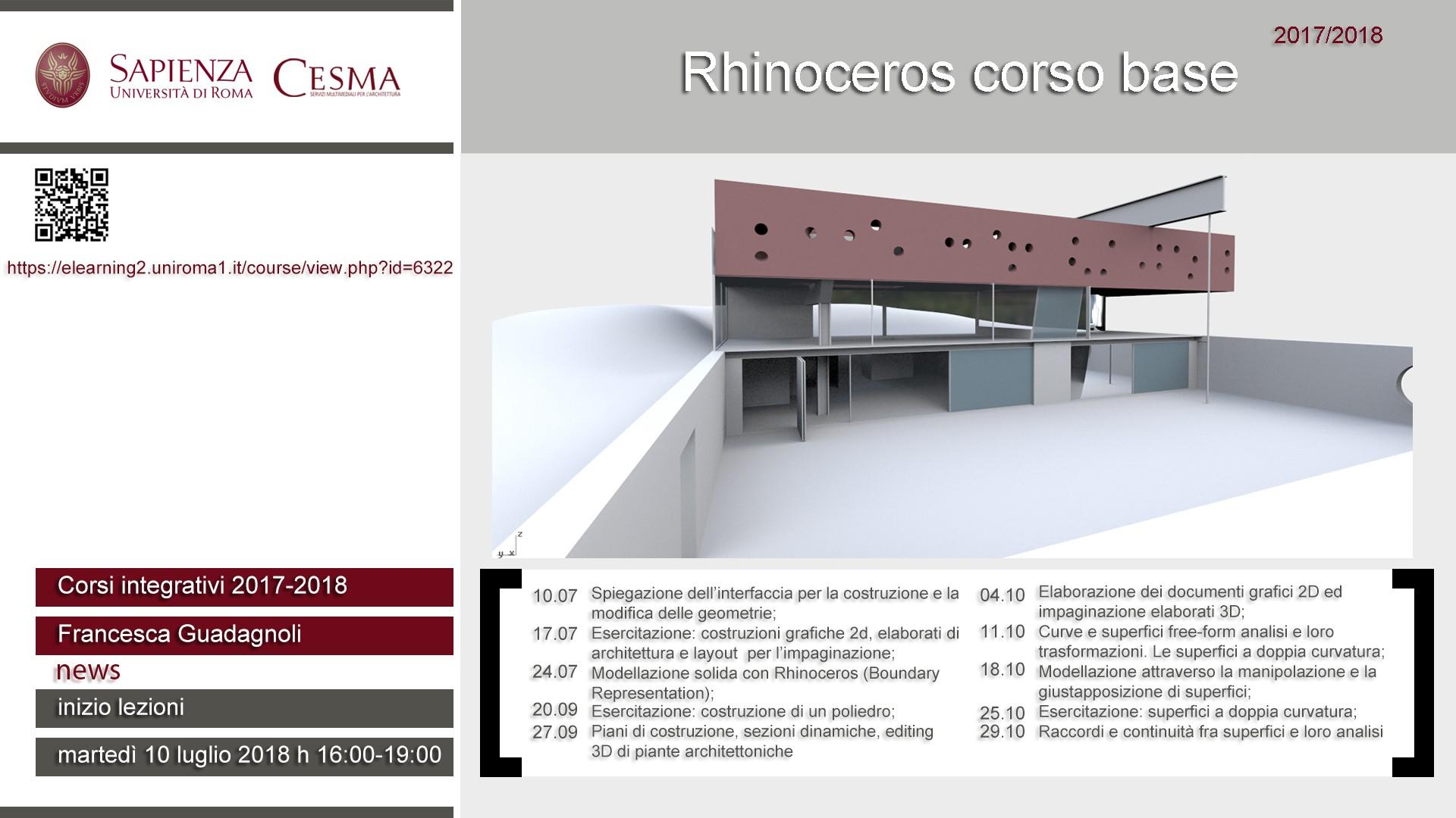 CeSMA 2018 Rhinoceros corso base
