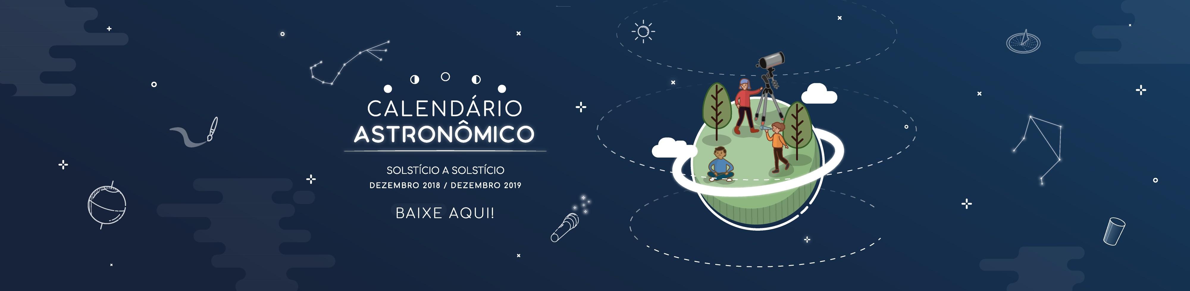 Calendário Astronômico Banner site Equipe de design Espaco do conhecimento 1