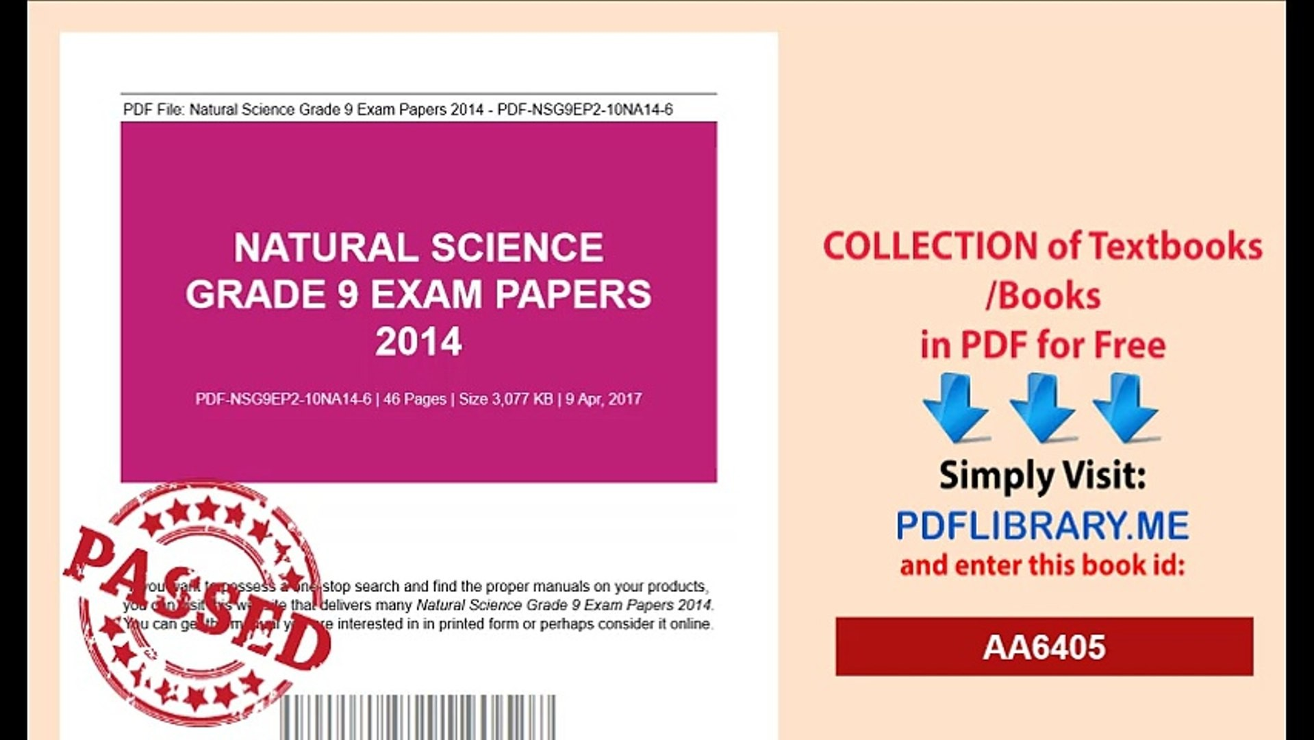 grade nine science exam ebook