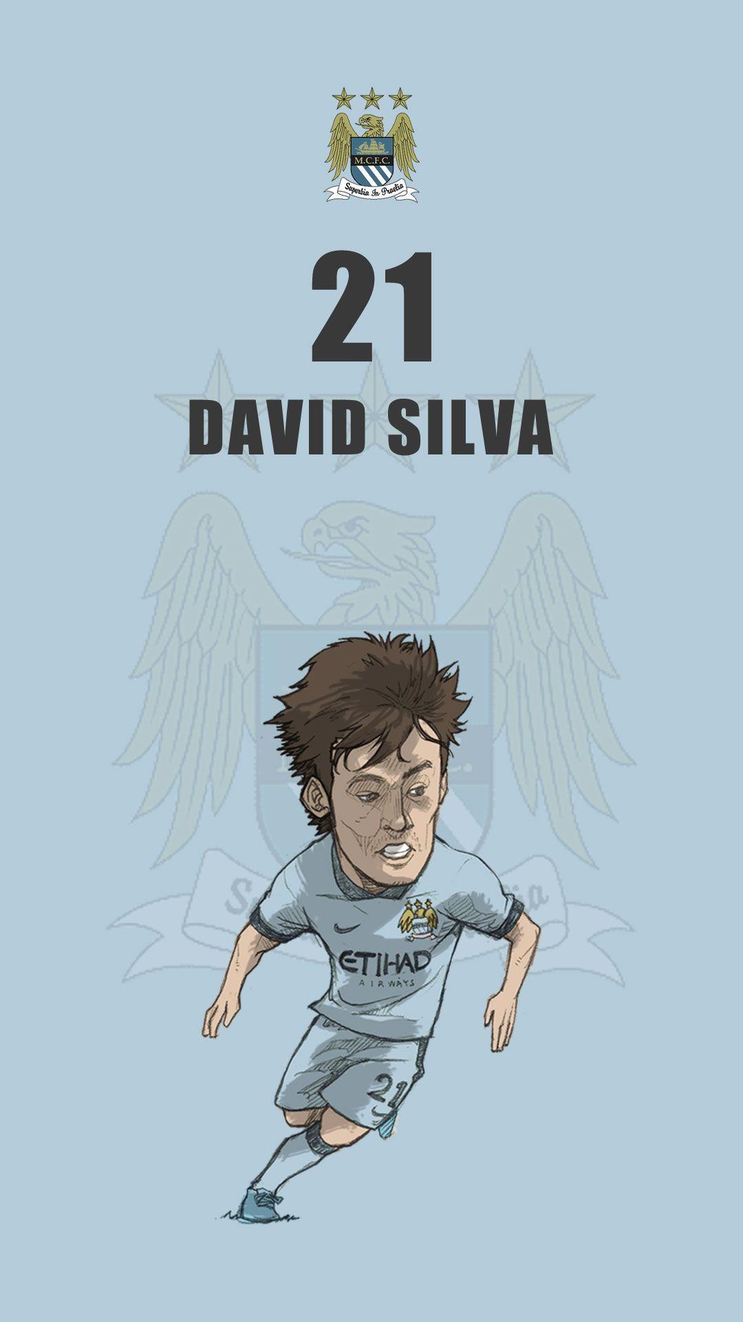 "Manchester city fan art mobile wallpaper ""David Silva"""