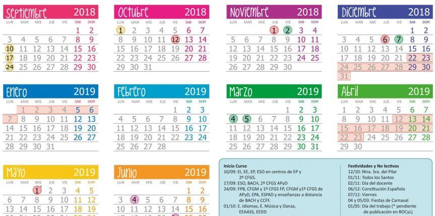 calendario escolar 2018 2019 en castilla y leon