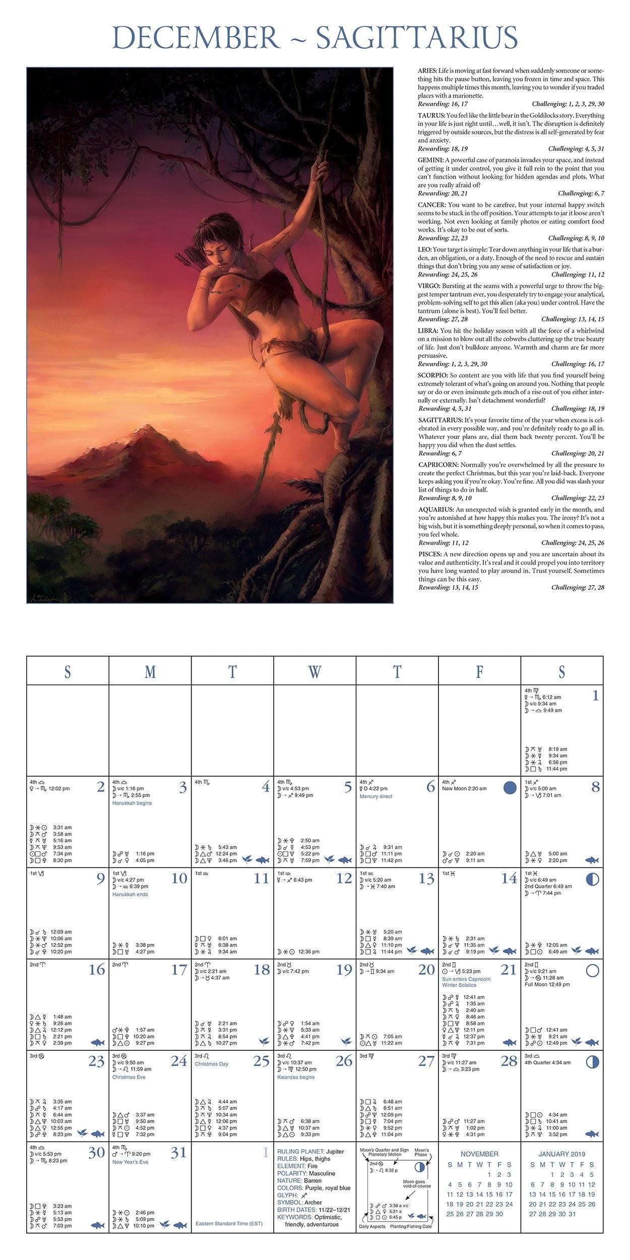 Calendario Lunar Diciembre 2019 Más Reciente astrological Calendar 2018 85th Edition Of the World S Best Known Of Calendario Lunar Diciembre 2019 Mejores Y Más Novedosos Catálogos Juguetes · El Corte Inglés