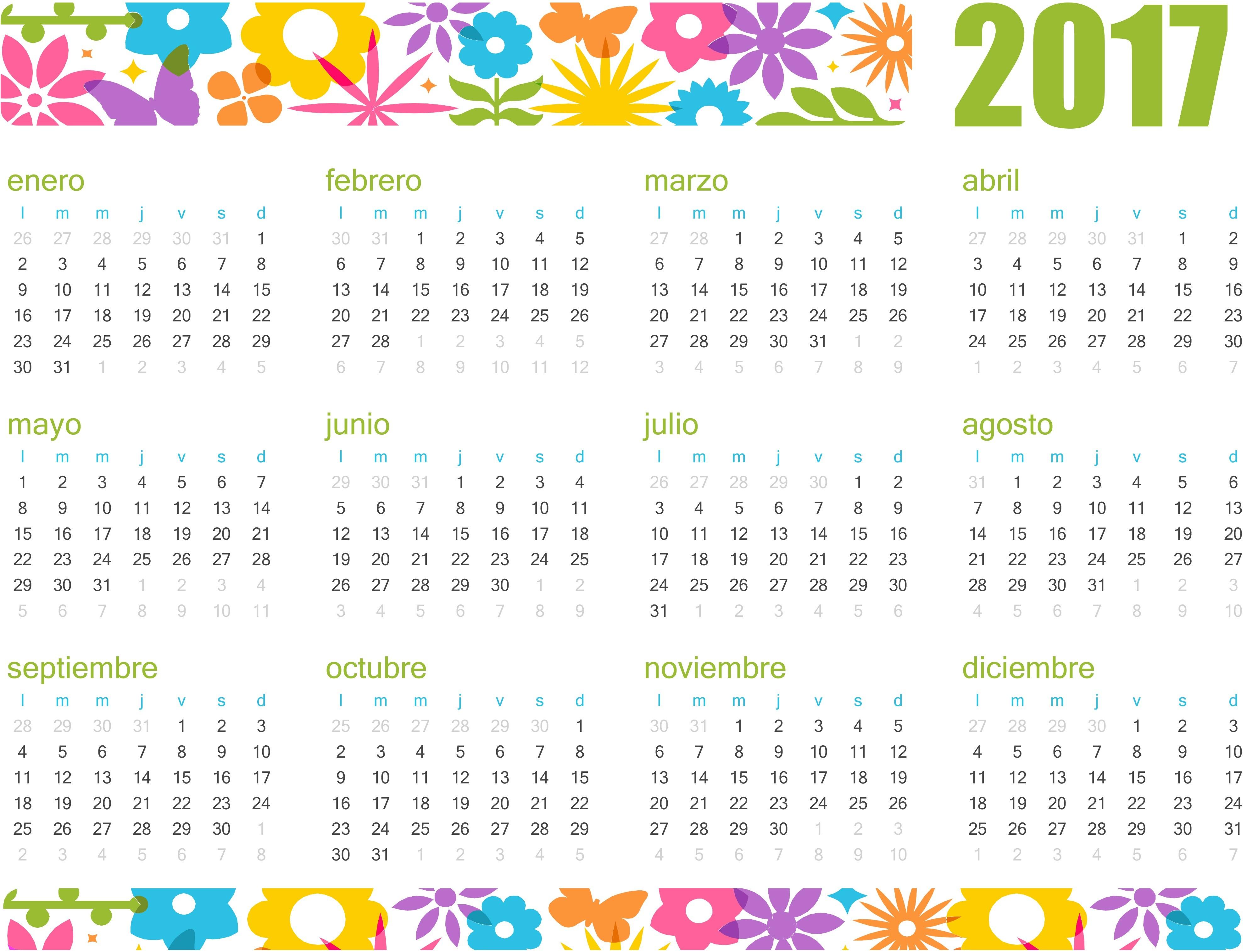 best calendario flores