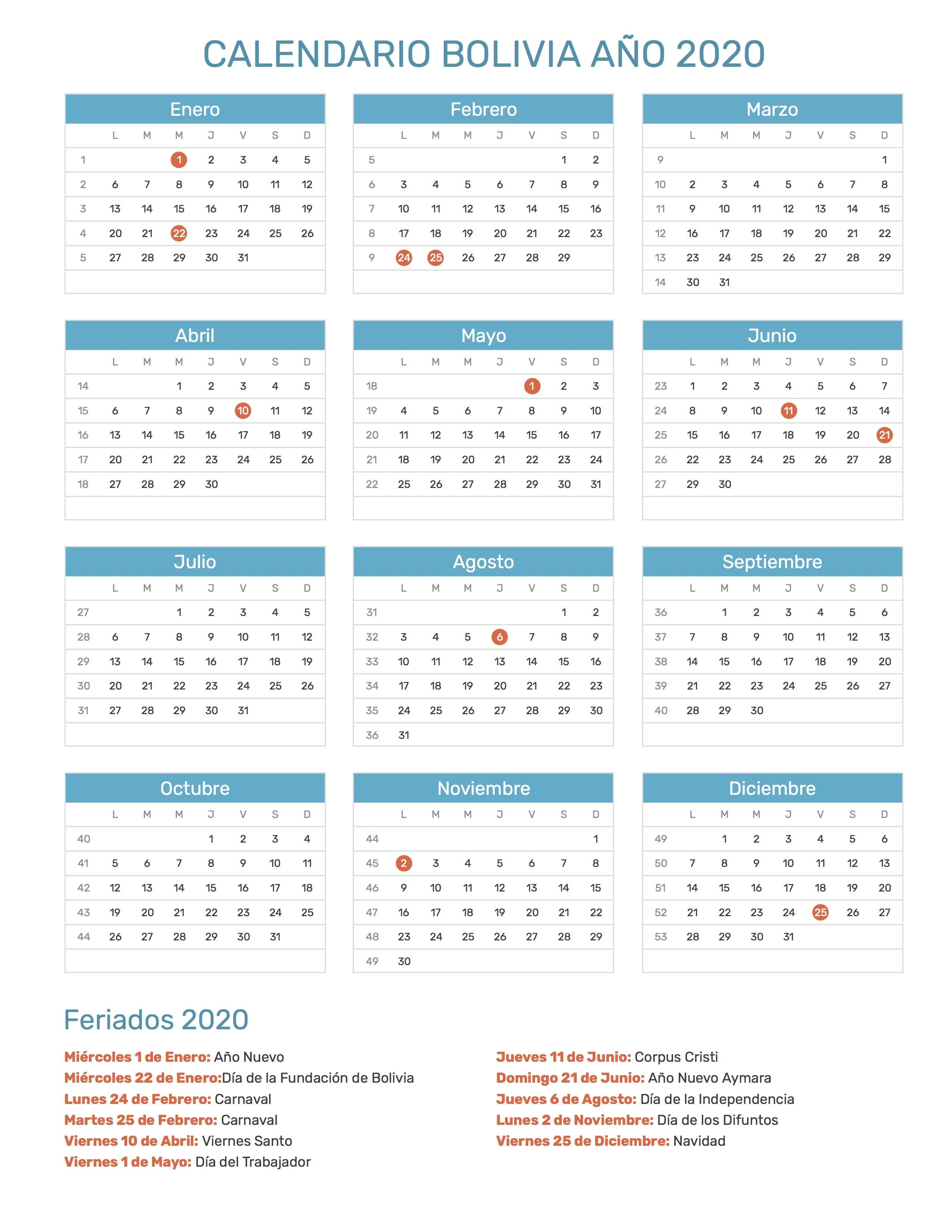 Pin de Calendario Hispano en Calendario con feriados a±o 2020 en 2018 Pinterest