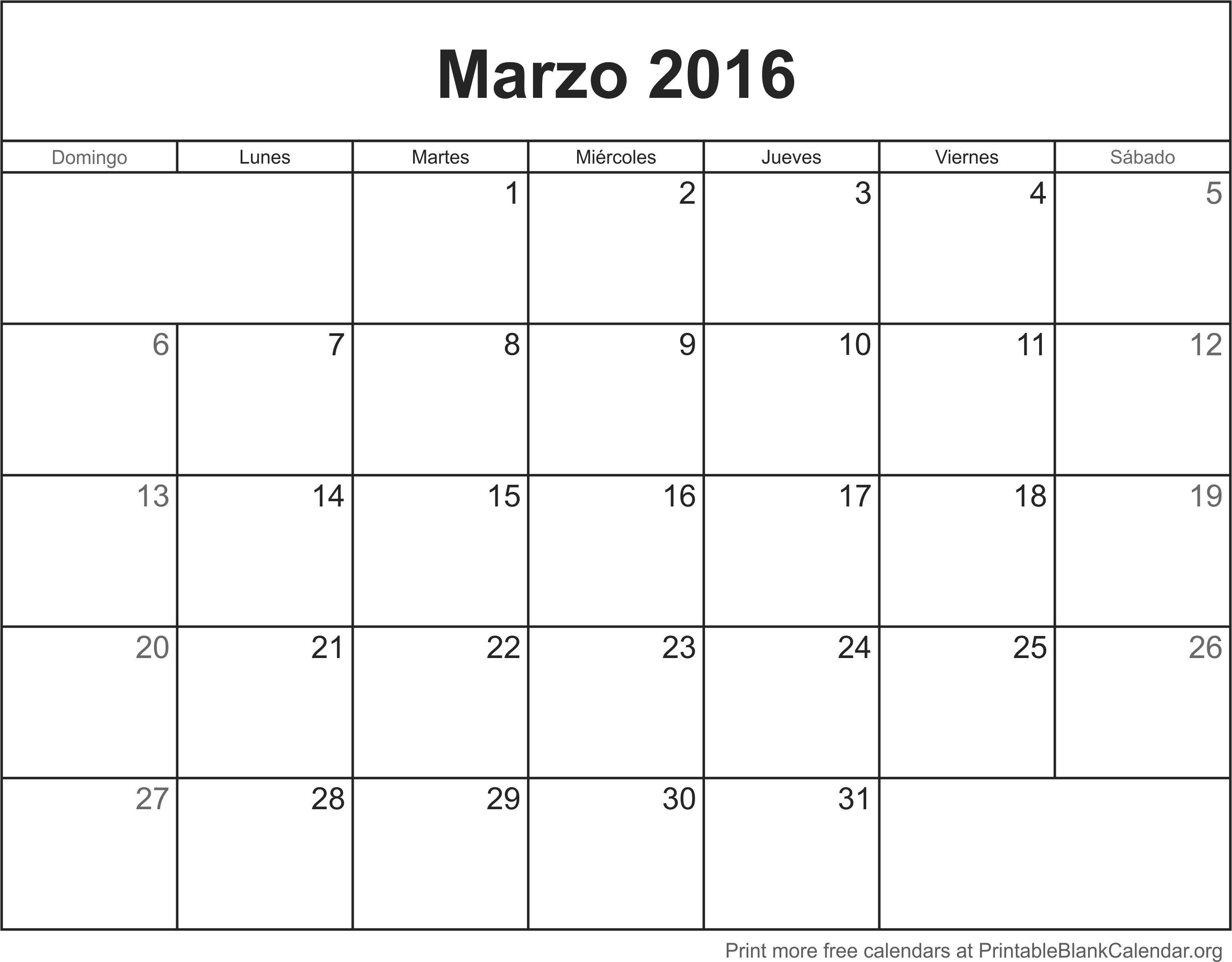 Calendario Para Imprimir 2019 Mexico Más Recientes Best Calendario De Marzo 2016 Para Imprimir Image Collection