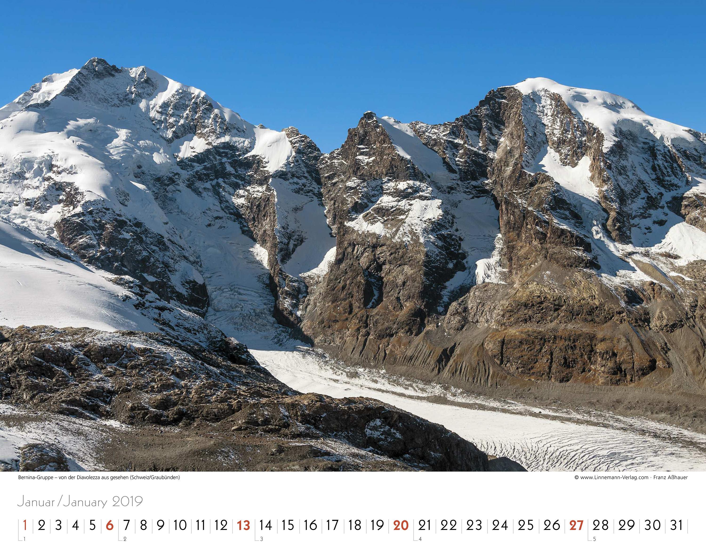 Kalender Alpen 2019