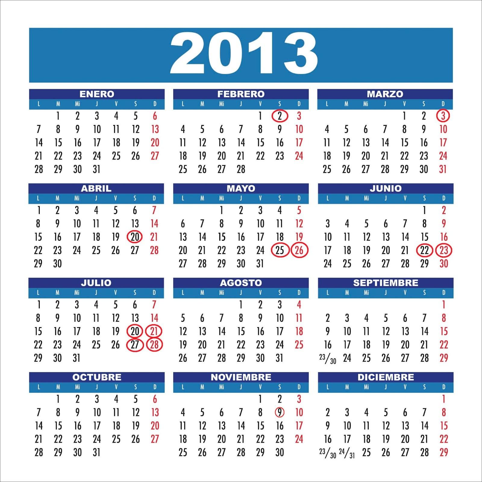 free calendario